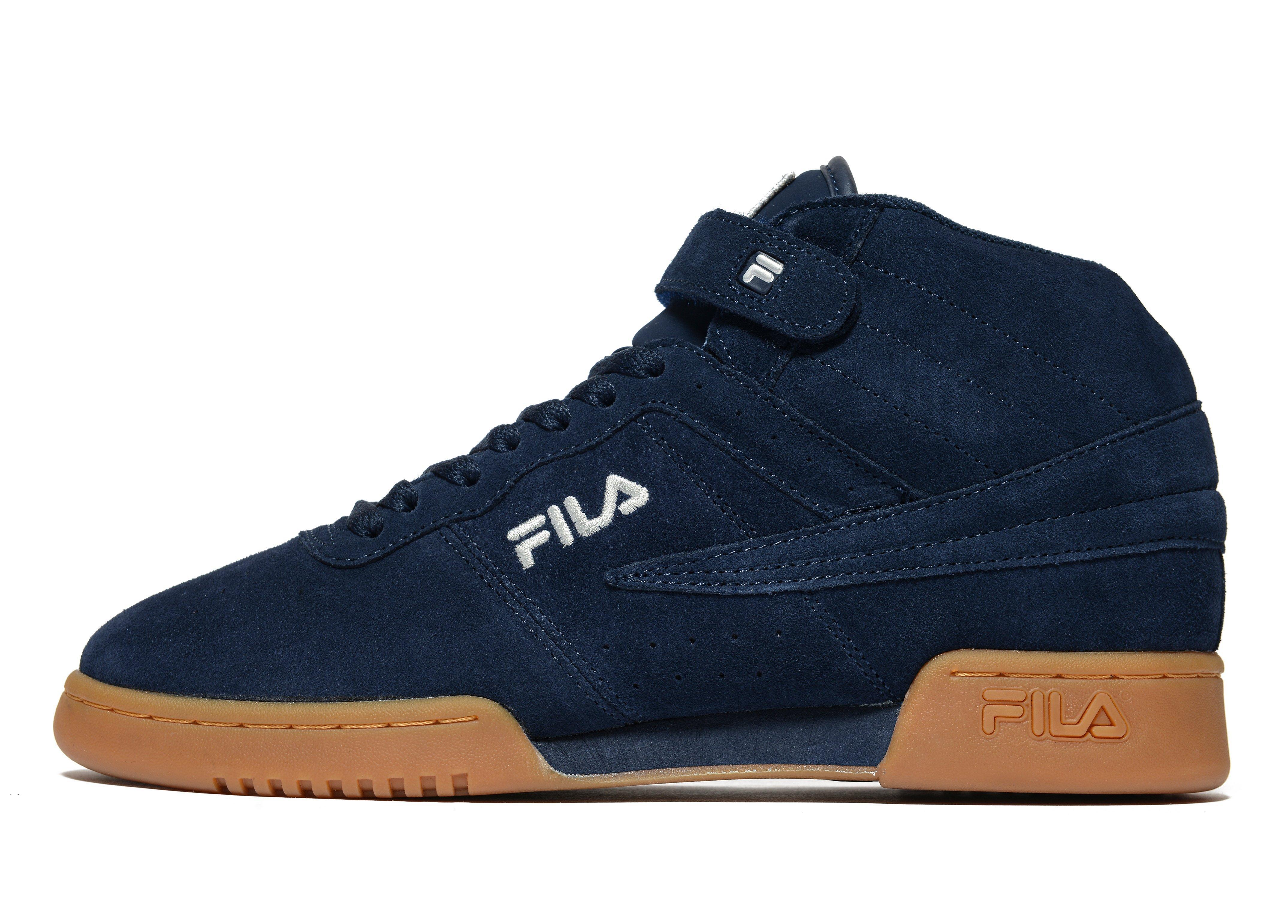 navy blue fila shoes discount code