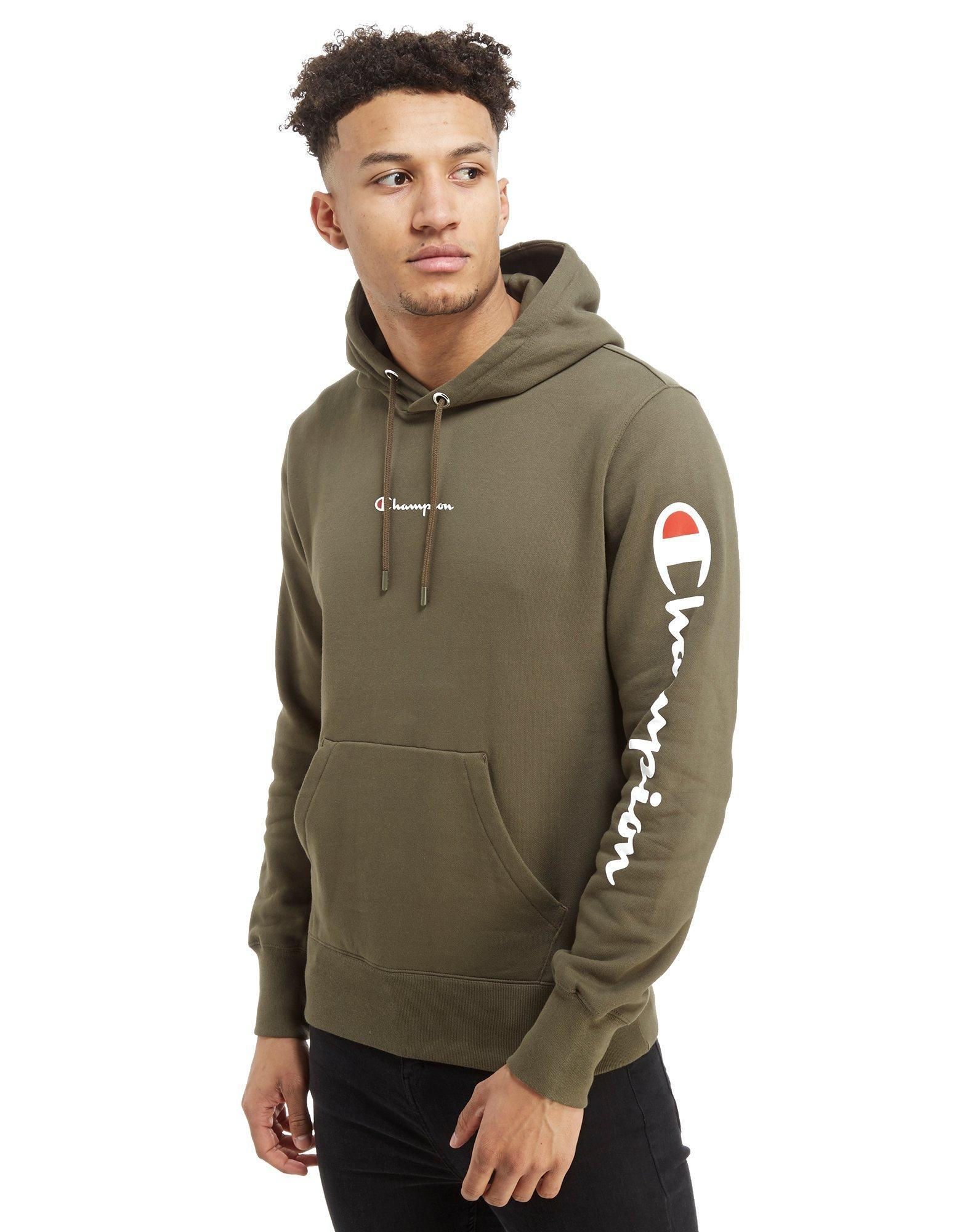 Natural Hoodie Sleeve For Lyst In Champion Script Men Fqwa4