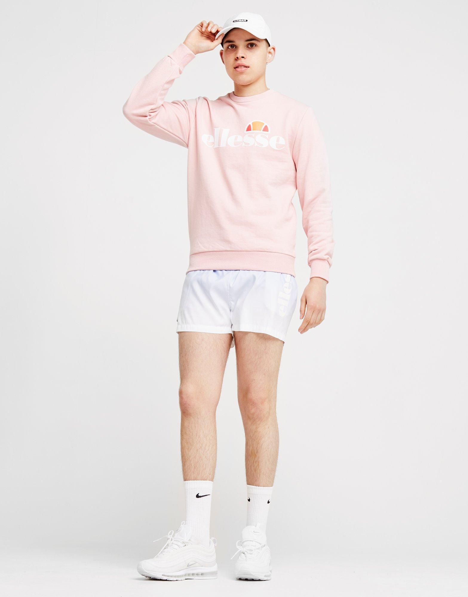 Ellesse Cotton Malspina Crew Sweatshirt in Pink for Men