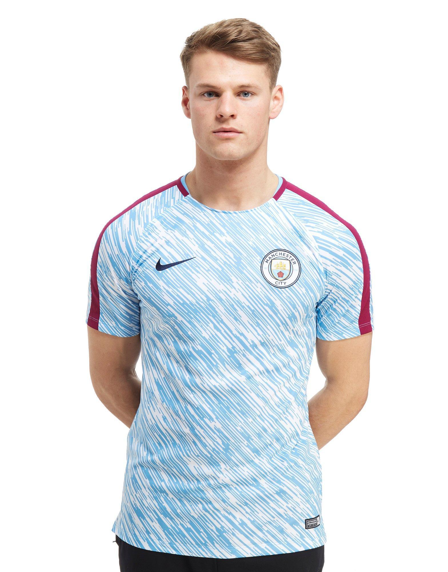 quality design f512b a55eb Nike Synthetic Manchester City Fc Squad Pre Match Shirt in ...