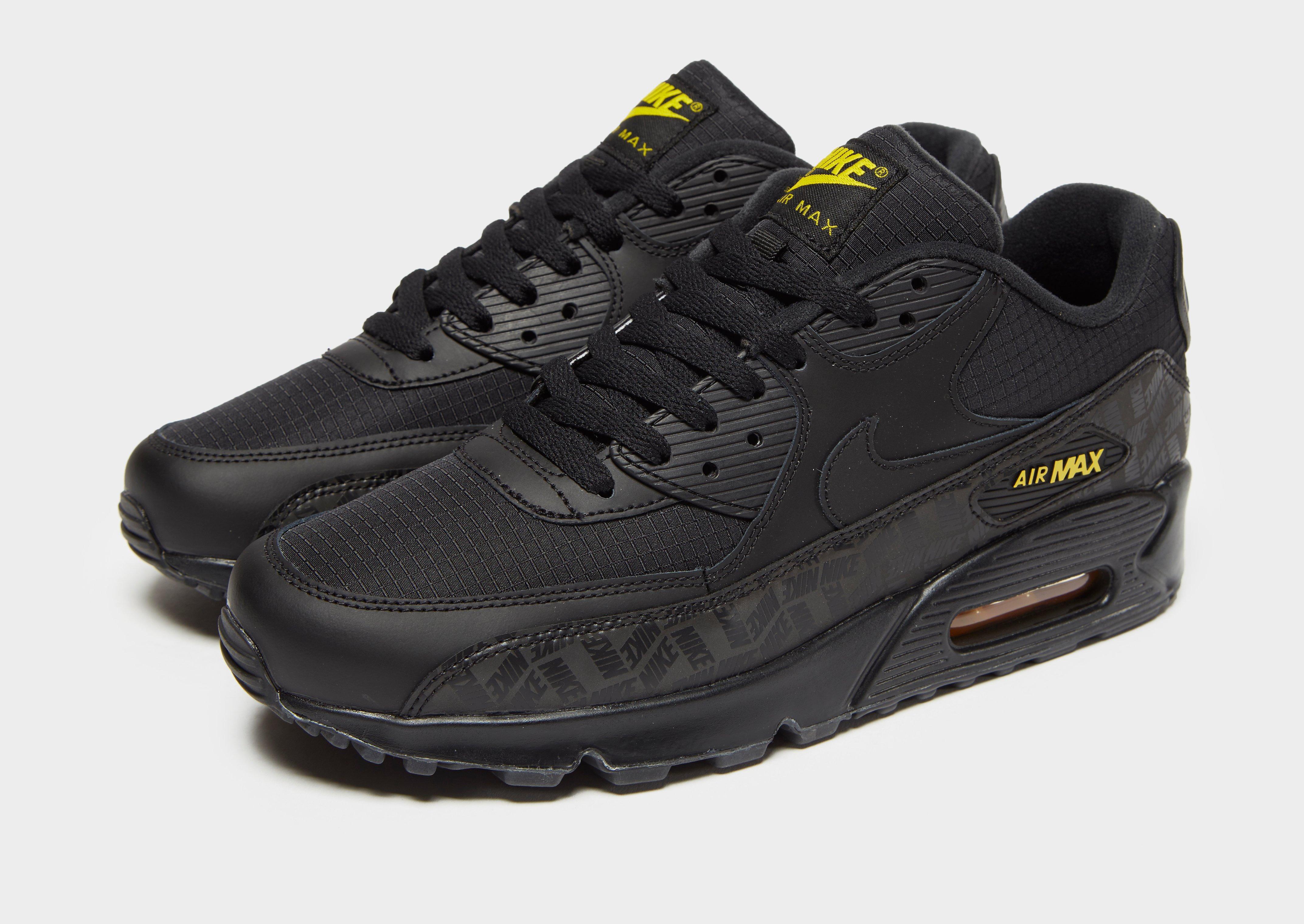 nike air max 90 essential black yellow Off 71%