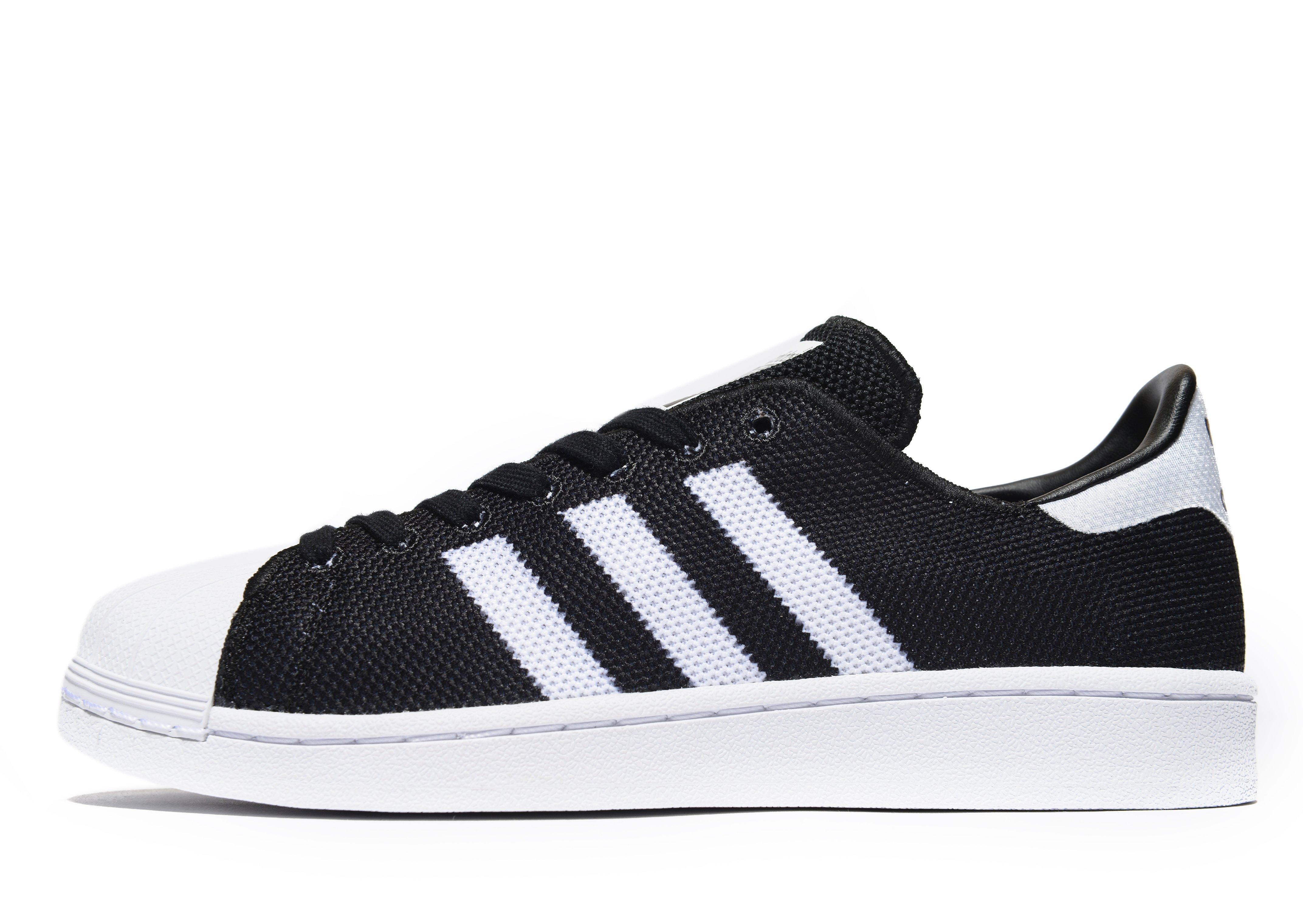 adidas superstar black white mesh