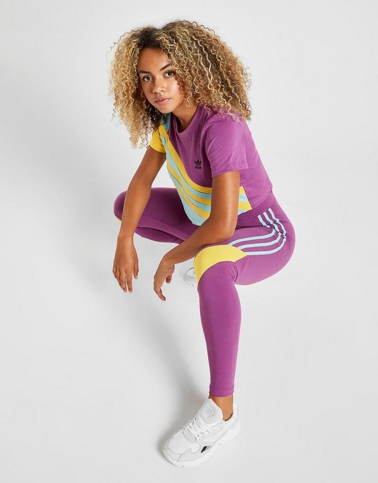 adidas originals sweat 90's colour block femme