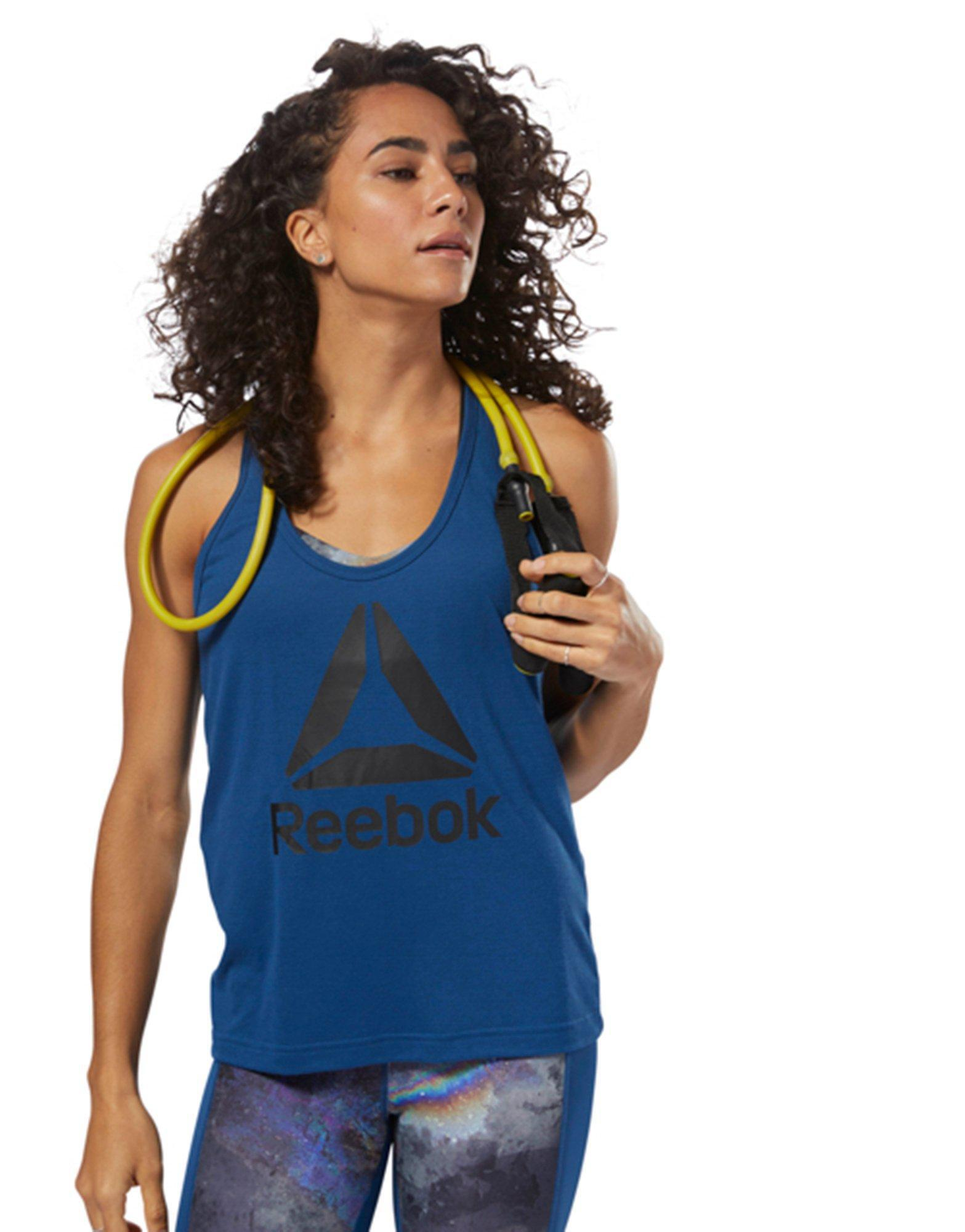 06ced47245f773 Lyst - Reebok Workout Ready Supremium 2.0 Tank in Blue