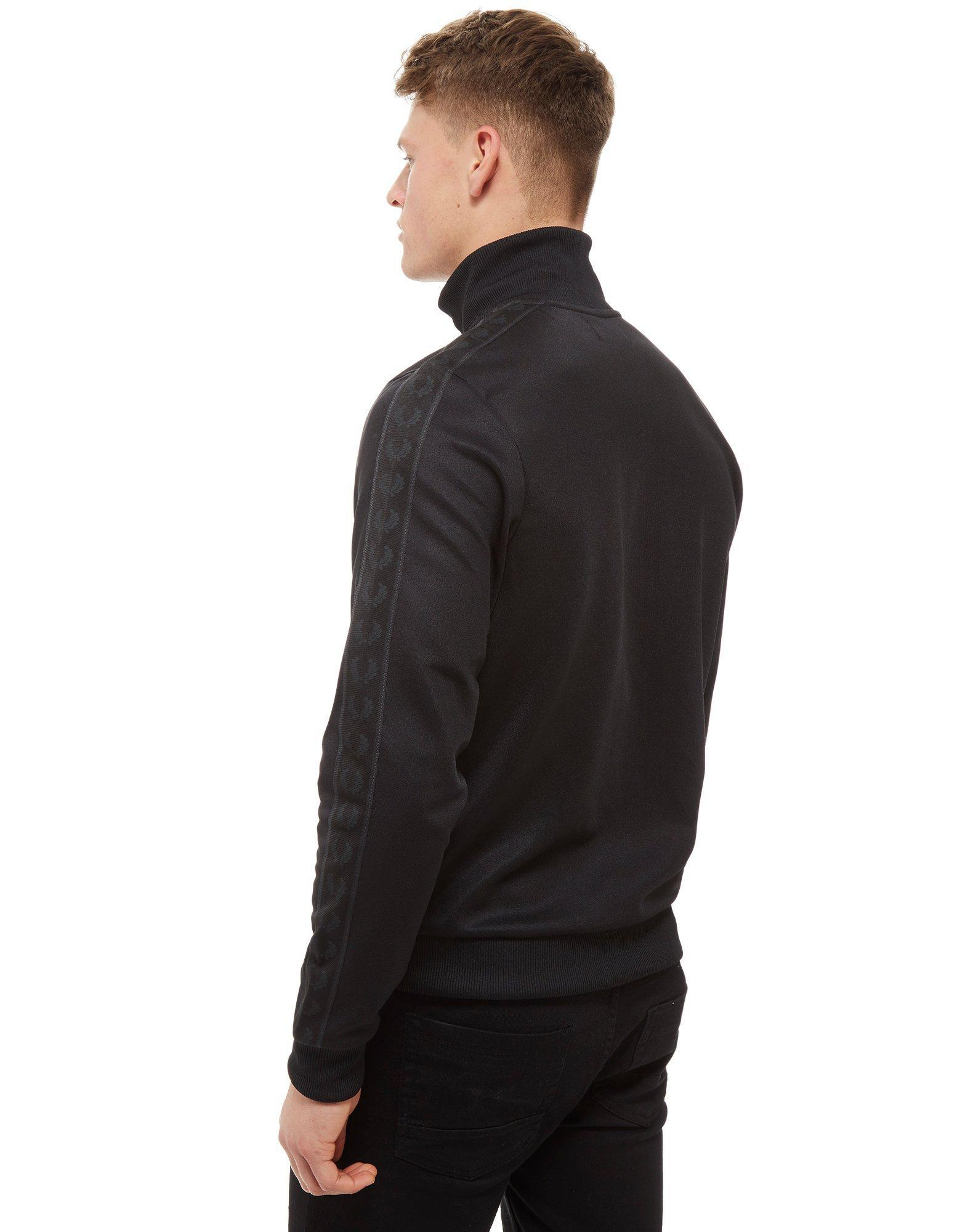 Fred Perry Synthetic Tonal Tape Track Top in Black for Men