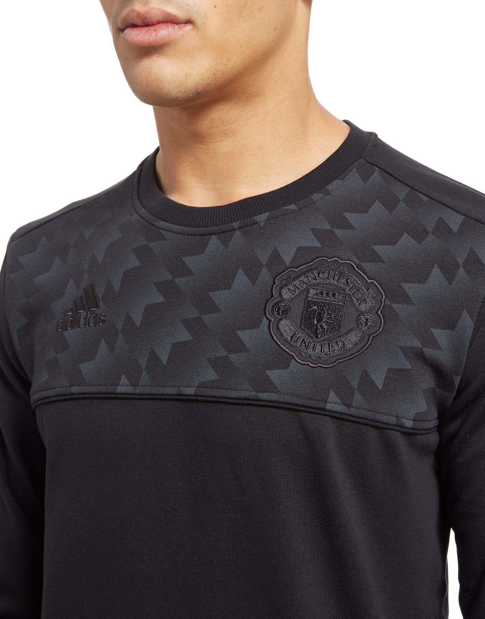 adidas Synthetic Manchester Utd 2017 Seasonal Specials Sweatshirt in Black for Men