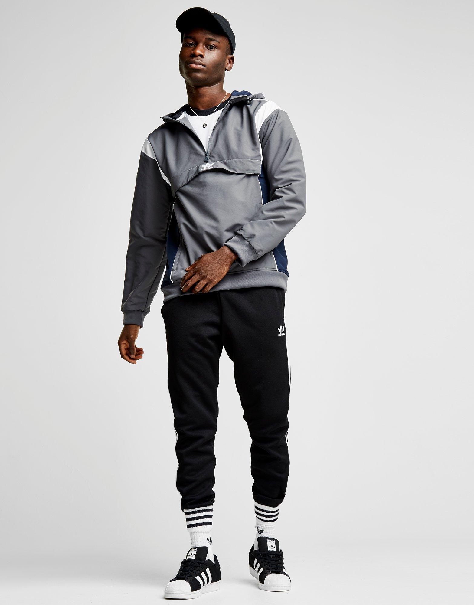 Adidas Originals Gray Challenger 12 Zip Jacket for men