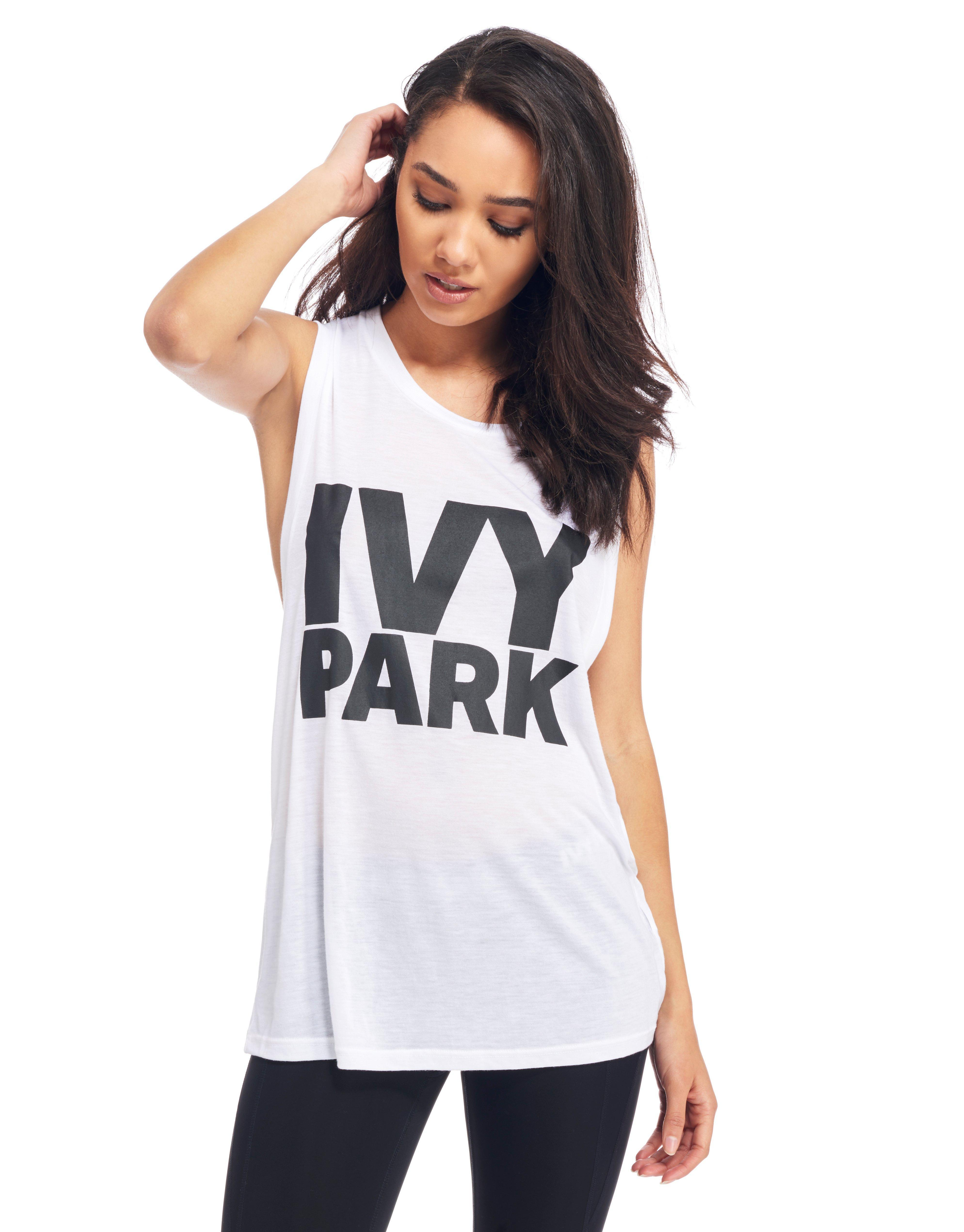 ca4b8f352cba59 Lyst - Ivy Park Muscle Tank Top in White