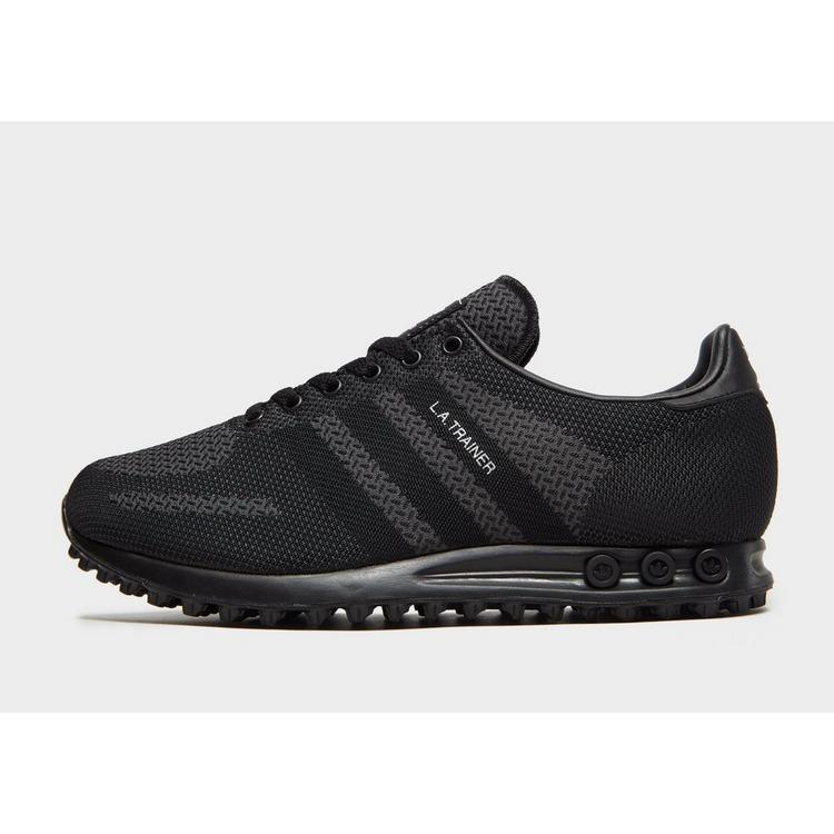 adidas Originals Synthetic La Trainer Woven in Black/Grey ...