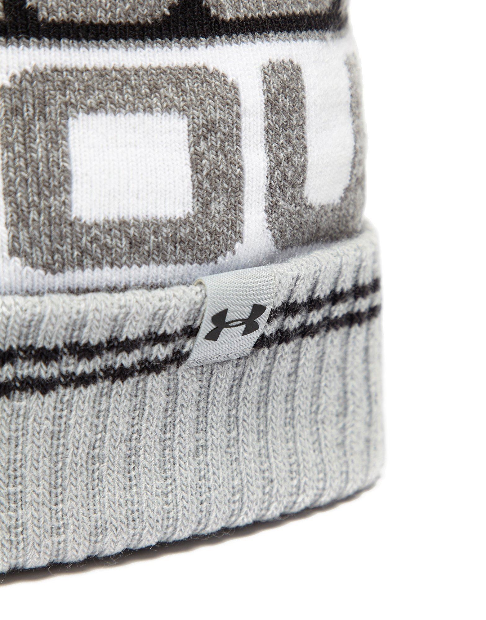 4c68d4eadbe Under Armour - Gray Retro Pom 2.0 Beanie Hat for Men - Lyst. View fullscreen