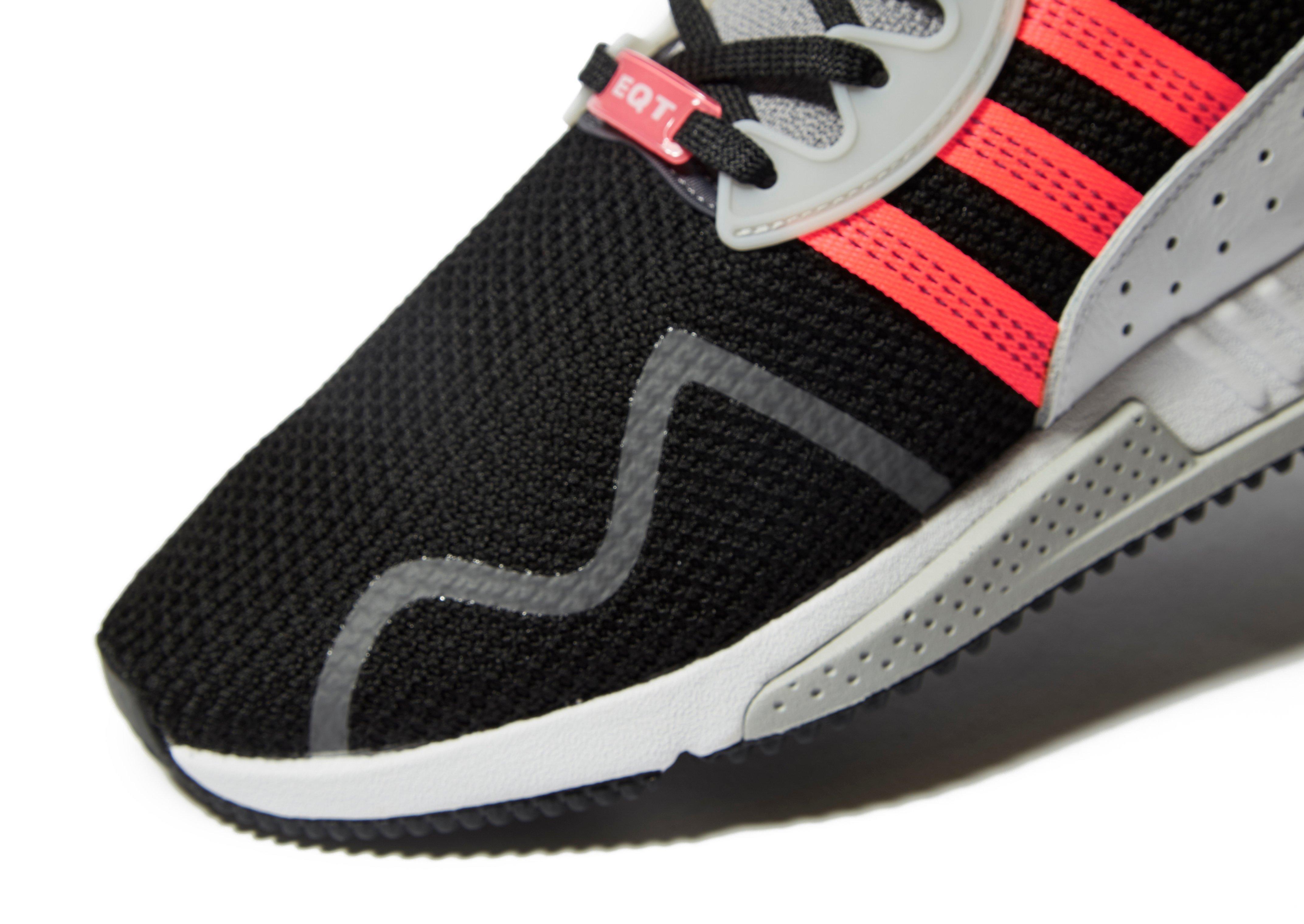 adidas Originals Lace Eqt Cushion Adv in Black/White/Orange (Black) for Men