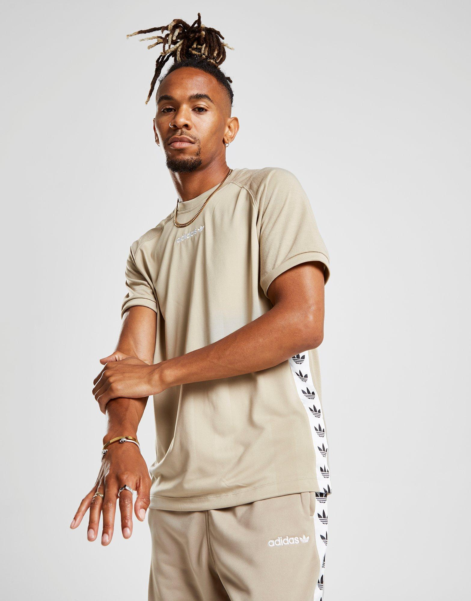 Adidas Originals Multicolor Tape Poly T shirt for men