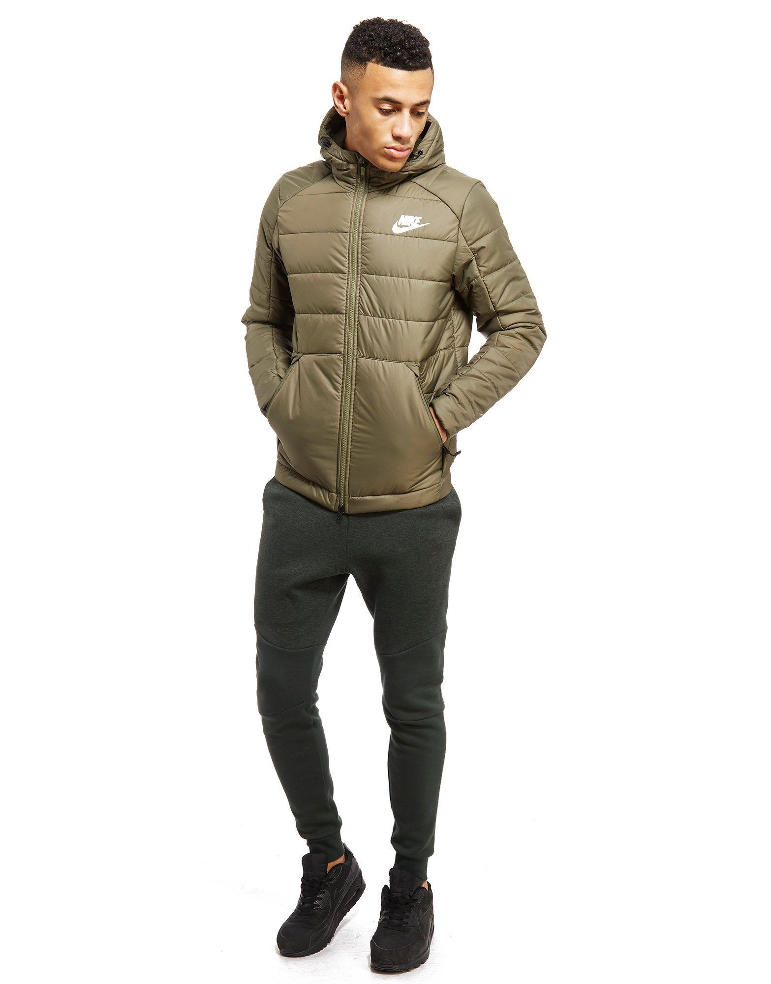 0bd5c9d79a6c Lyst - Nike Bubble Padded Jacket in Green for Men