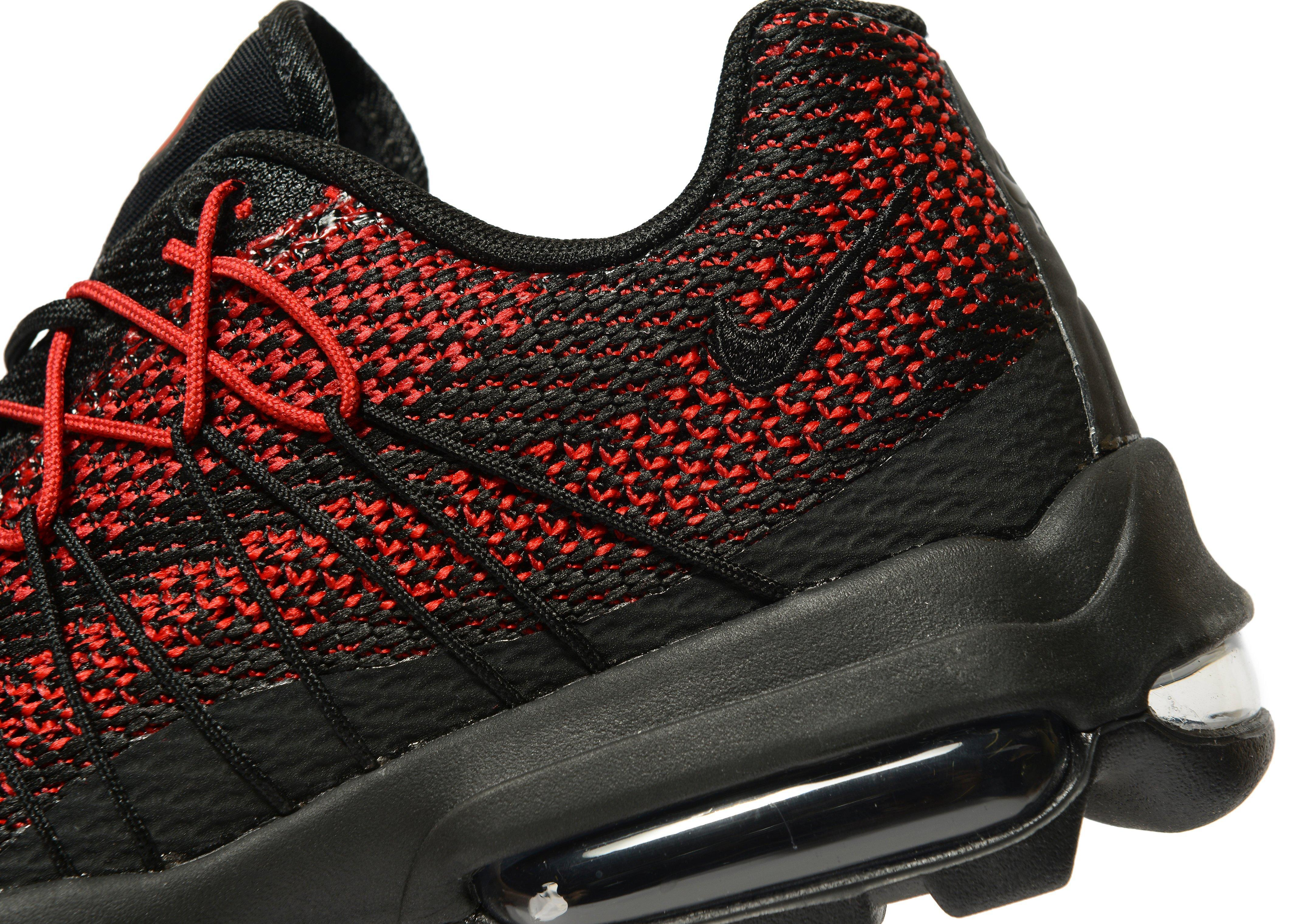 uk availability 257a5 c62e0 Nike Air Max 95 Ultra Jacquard in Red for Men - Lyst