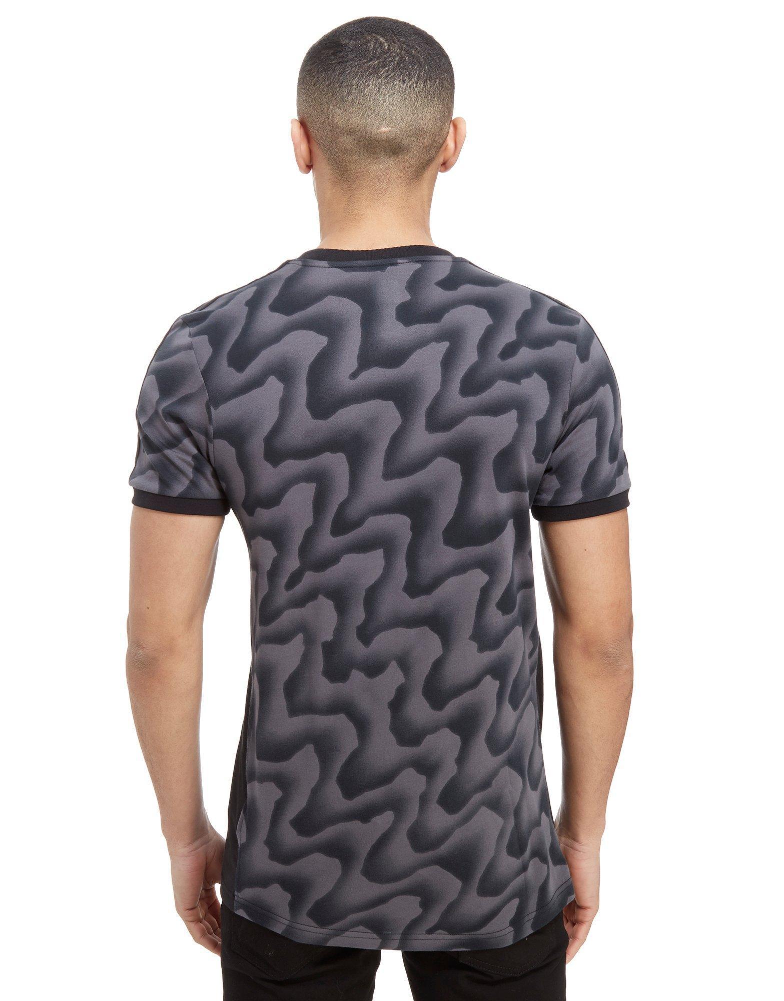 705c5f0922 Lyst - adidas Originals Skateboarding Warp Camo T-shirt in Gray for Men