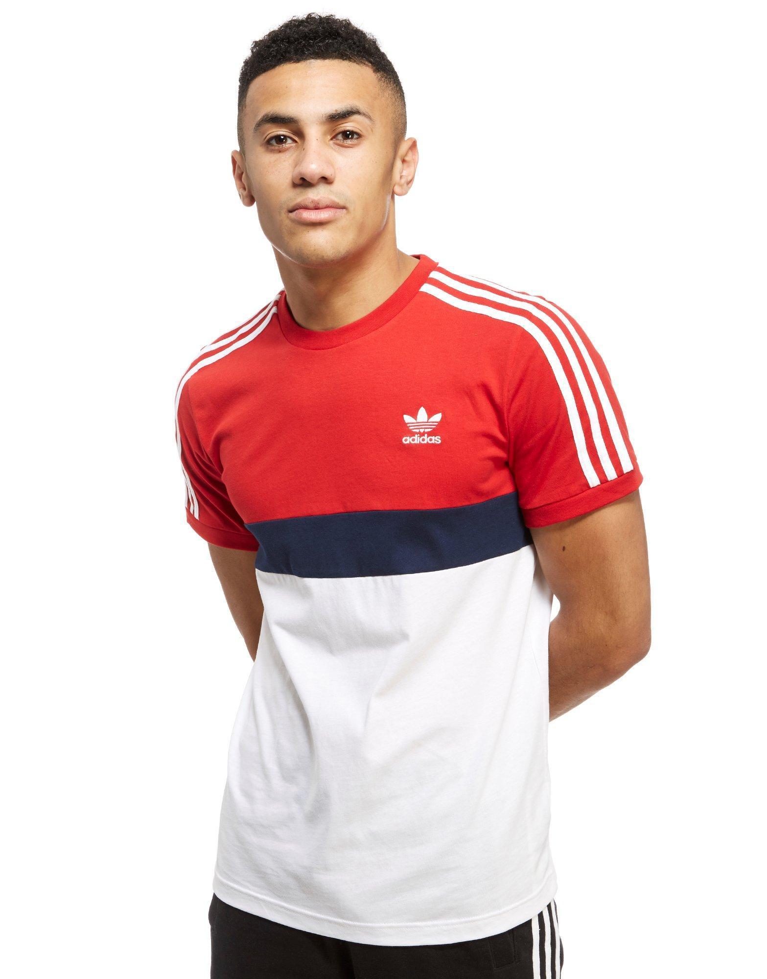 adidas Originals Cotton California 2 T-shirt in Red/White (Red ...