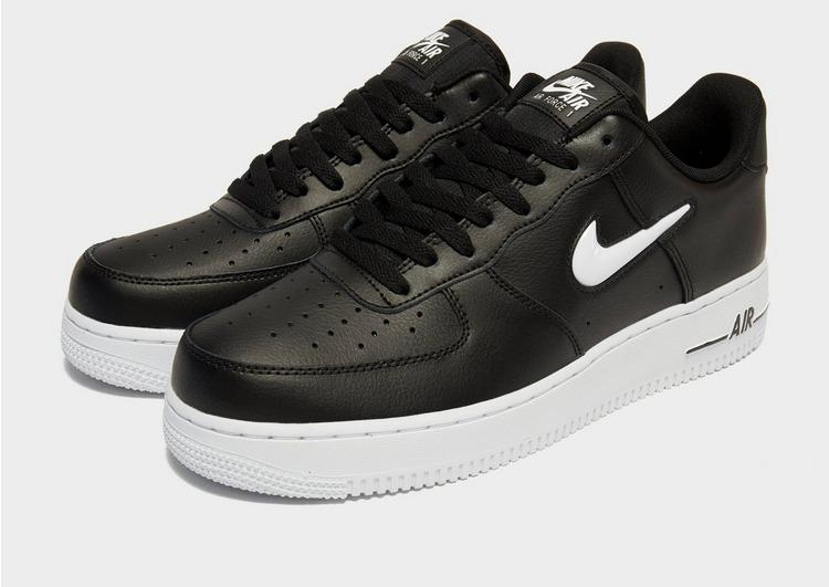 Nike Leather Air Force 1 Essential Jewel in Black/White (Black ...