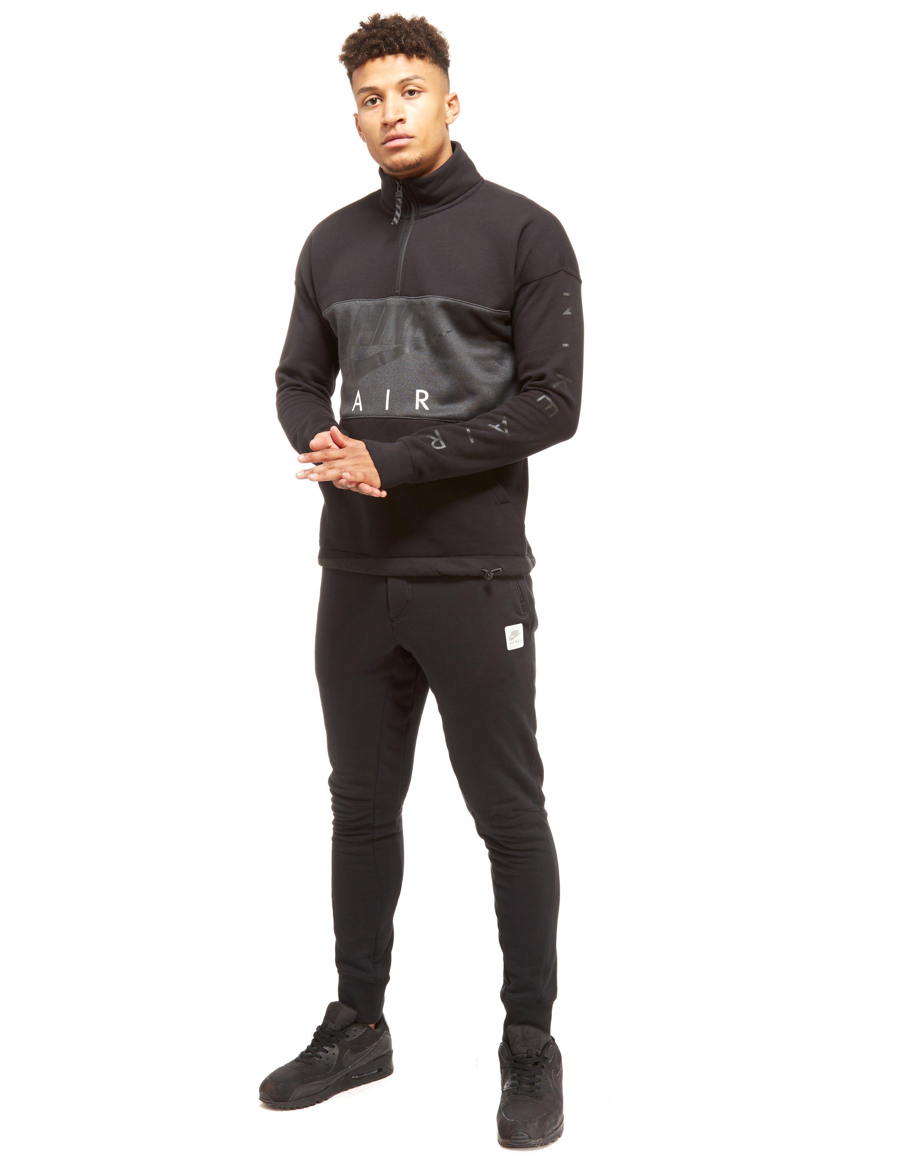 ee5f04a0fa4a Lyst - Nike Air Half Zip Sweatshirt in Black for Men