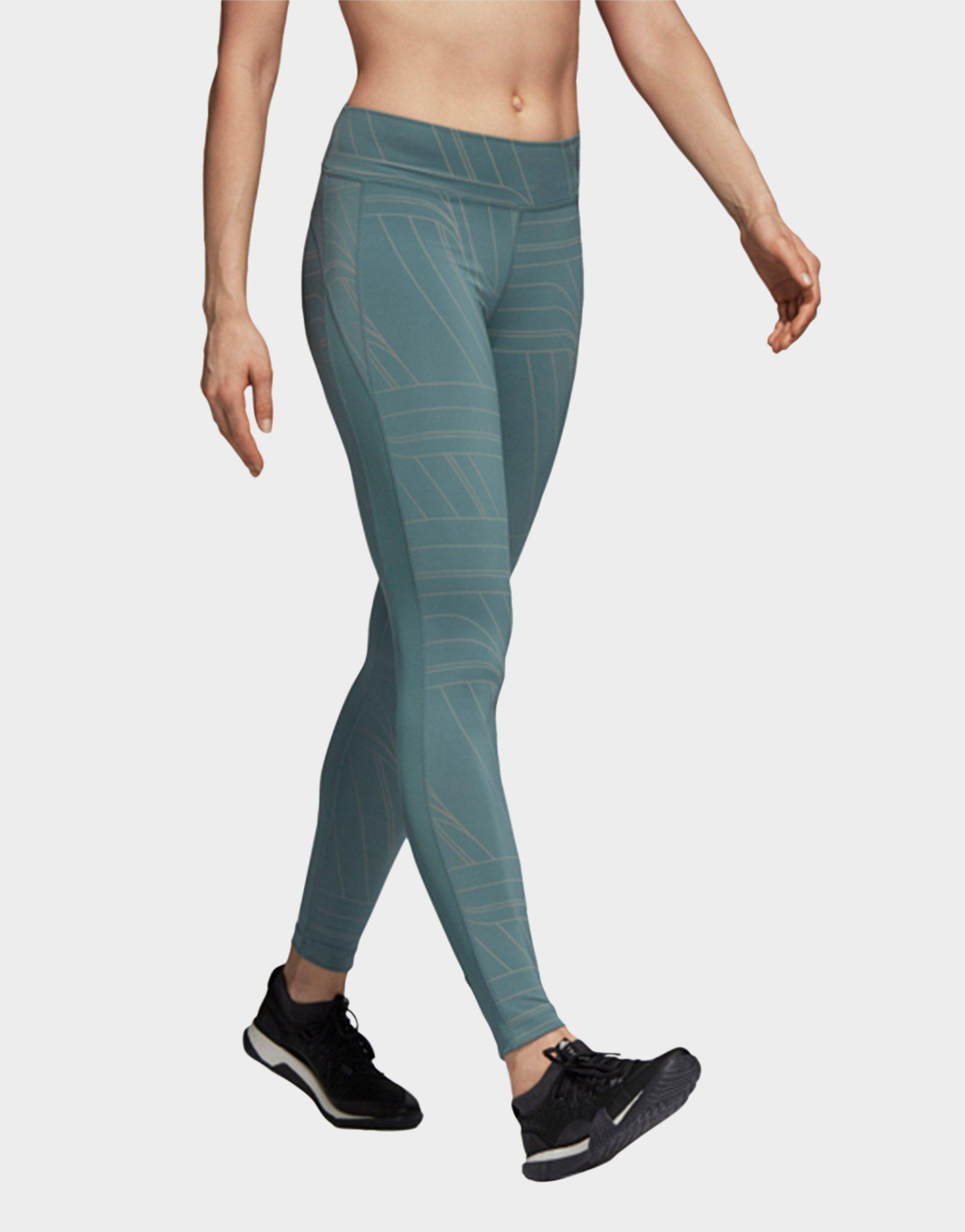 Lyst - Adidas Believe This Long Tights in Green bd1b67007ab