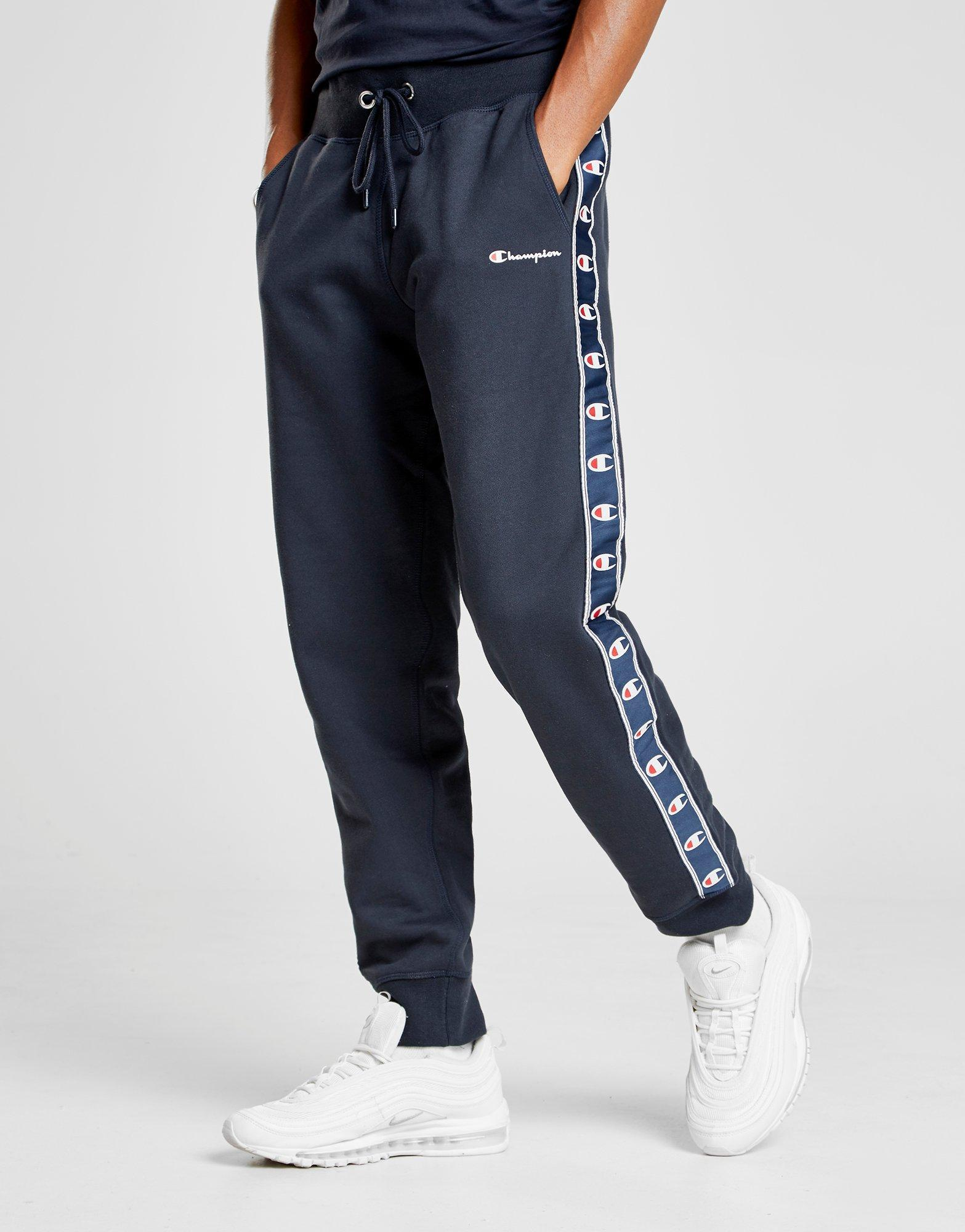 c82c6905f266 Champion Tape Fleece Track Pants in Blue for Men - Lyst