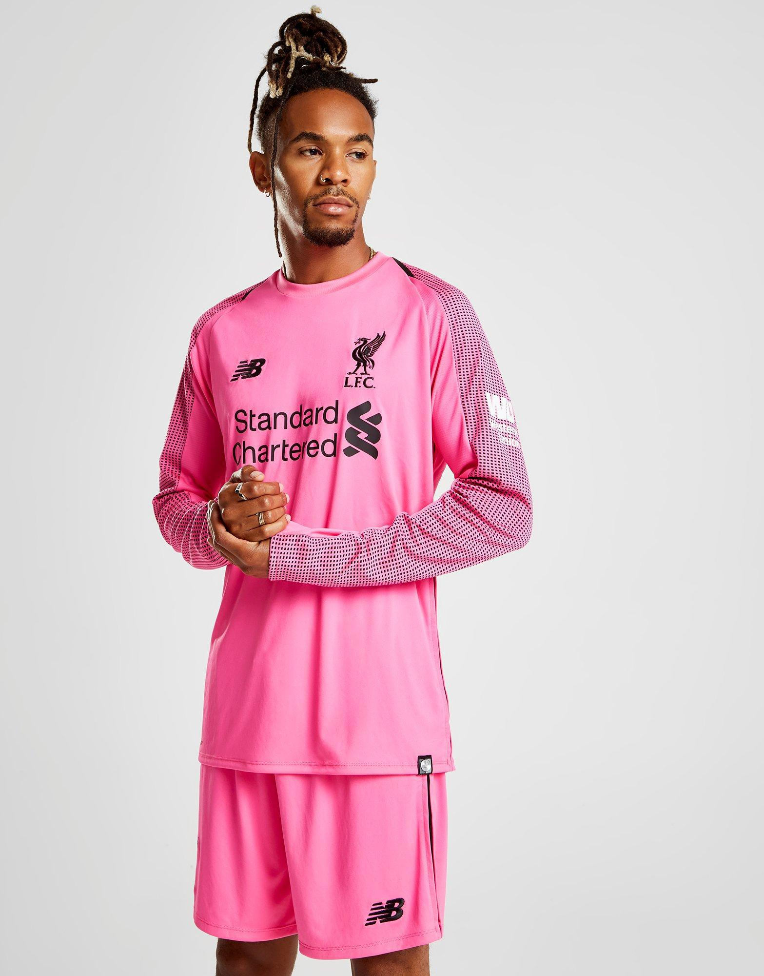 reputable site a19ab 20edf New Balance Pink Liverpool Fc 2018/19 Third Goalkeeper Shirt for men