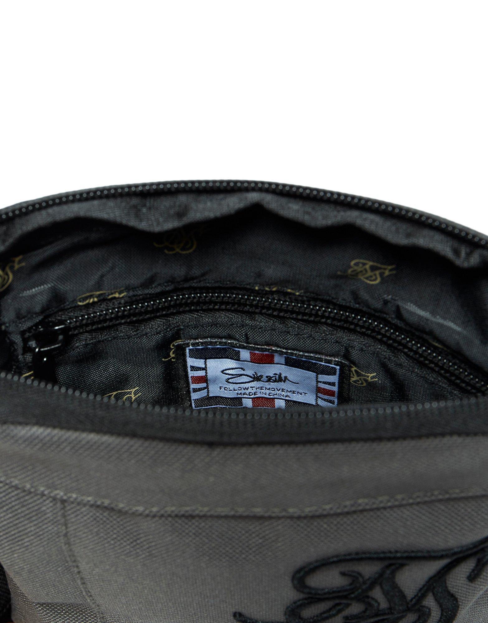 SIKSILK Synthetic Cross Body Flight Bag in Khaki (Black) for Men