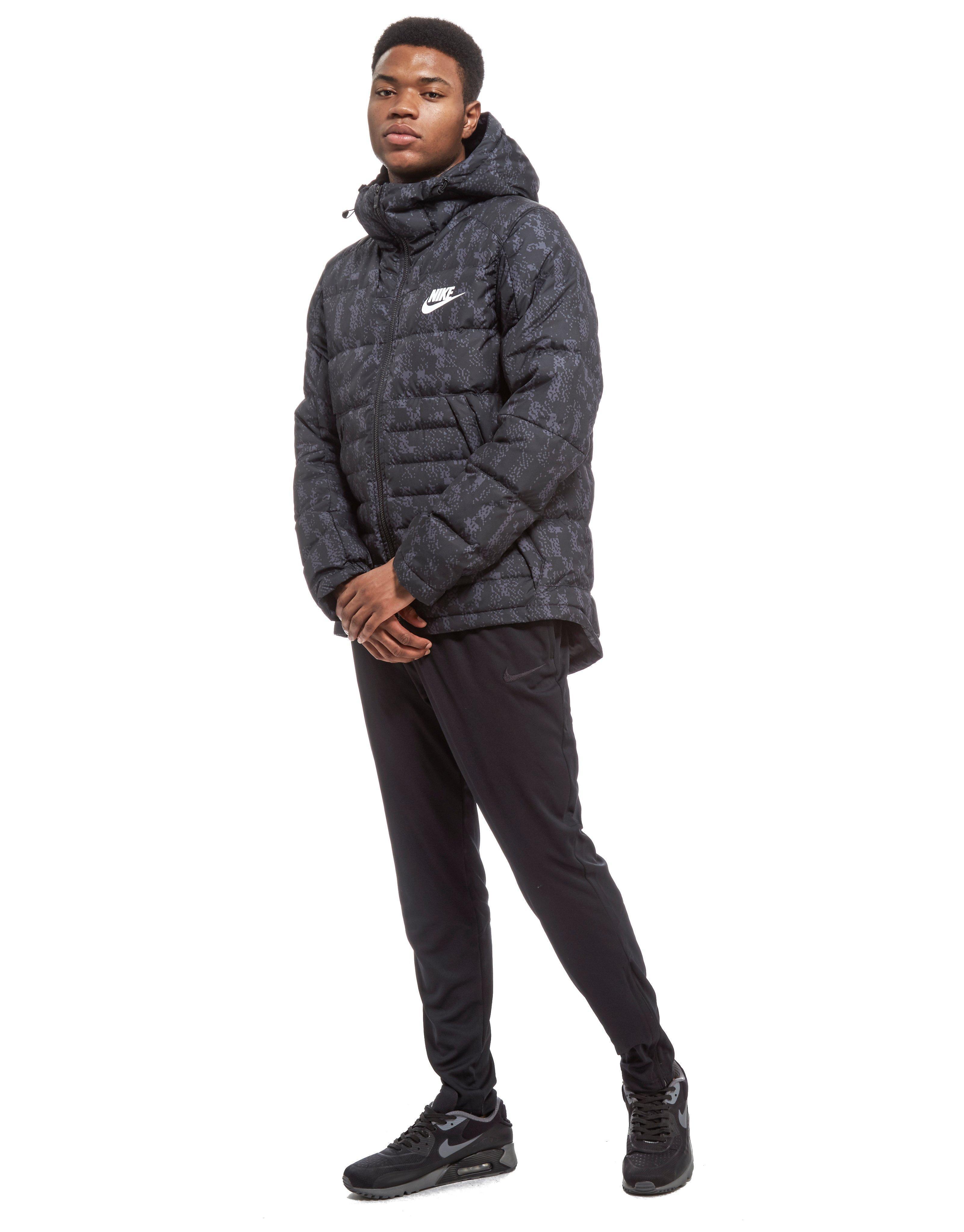 60780fe52359 Lyst - Nike Printed Down Fill Hooded Jacket in Black for Men
