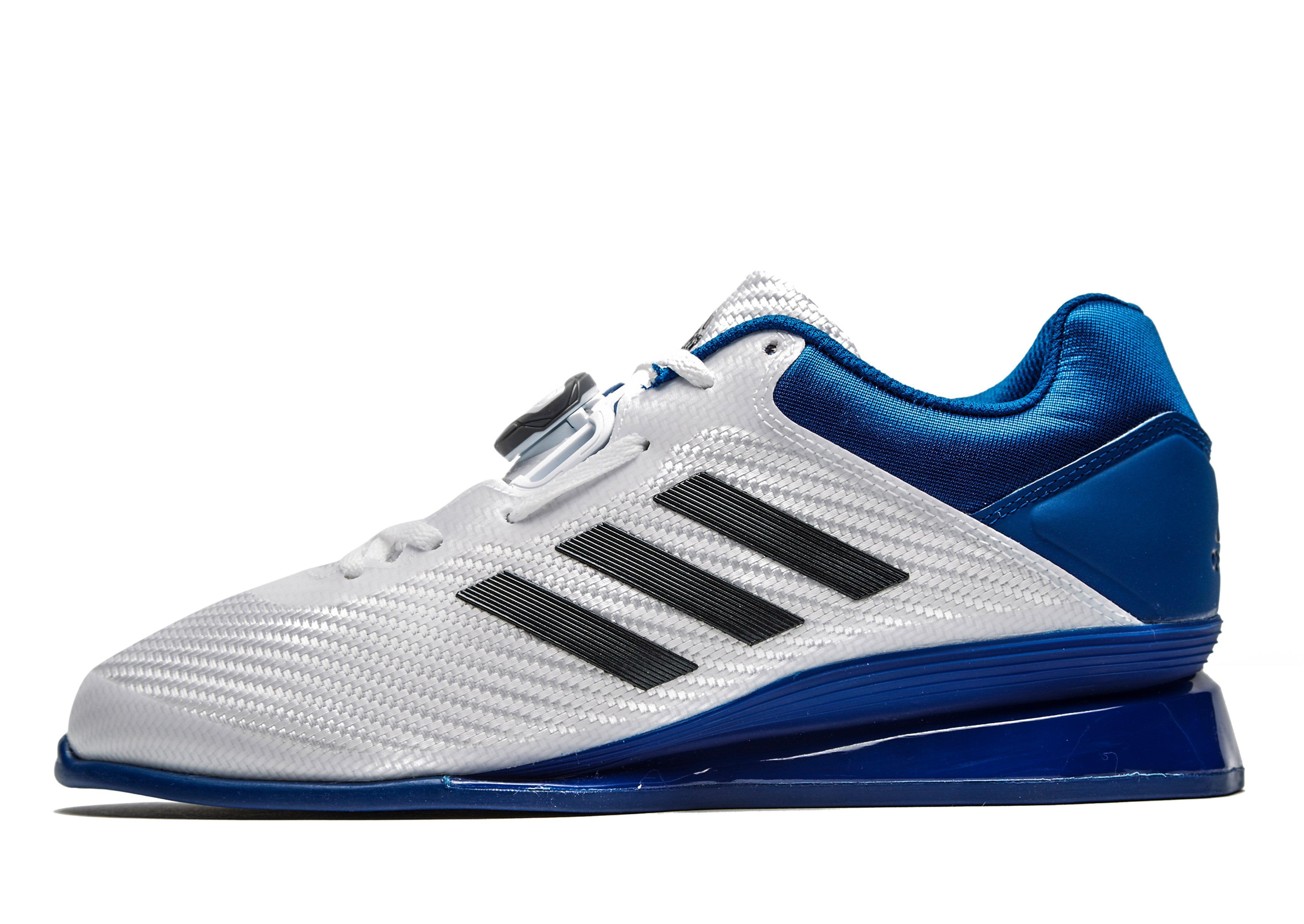 Adidas Leistung 16 Ii Weightlifting Shoes In Blue For Men