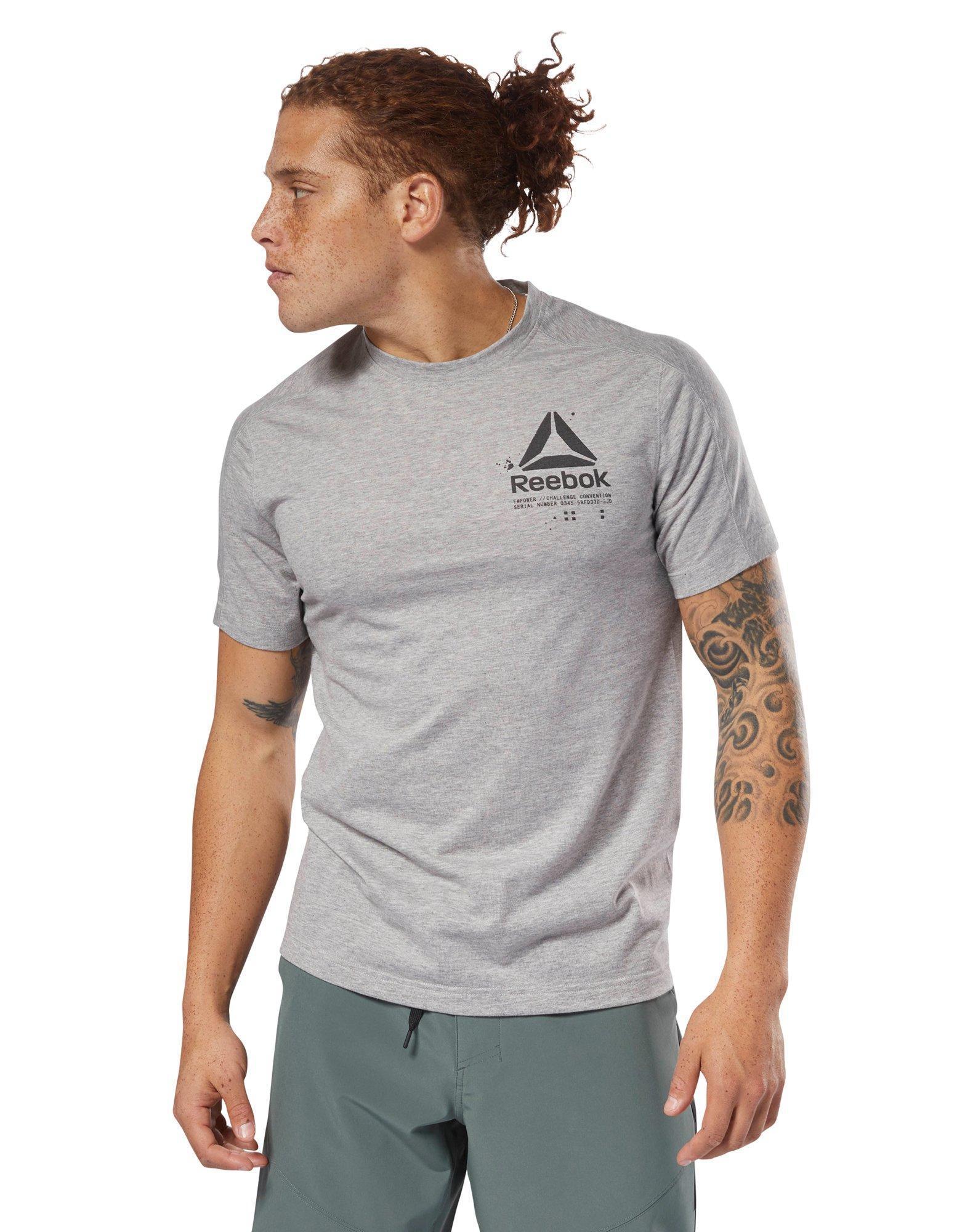 0584da20 Lyst - Reebok Speedwick Graphic Tee in Gray for Men