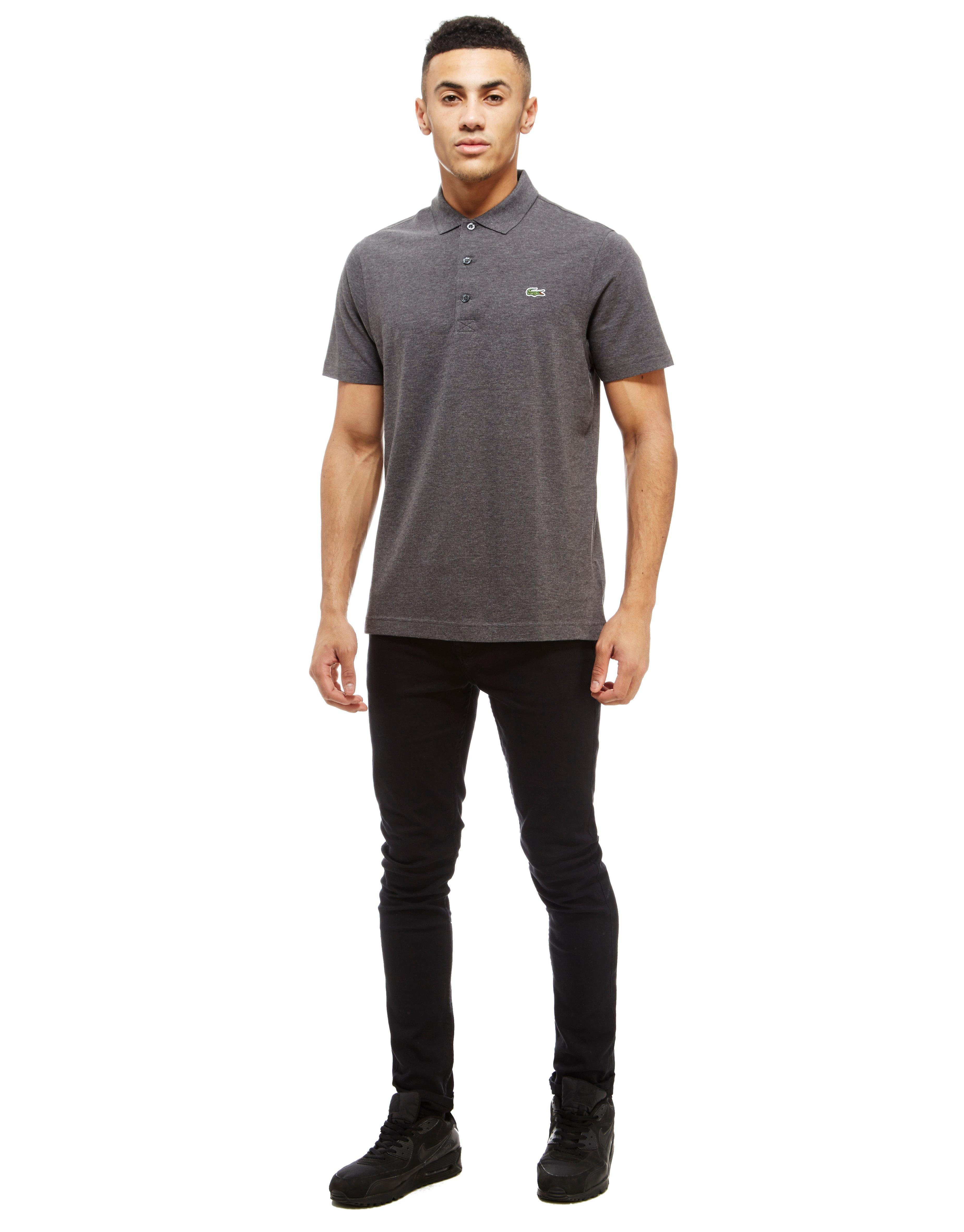 Lyst lacoste alligator polo shirt in gray for men for Lacoste shirts with big alligator