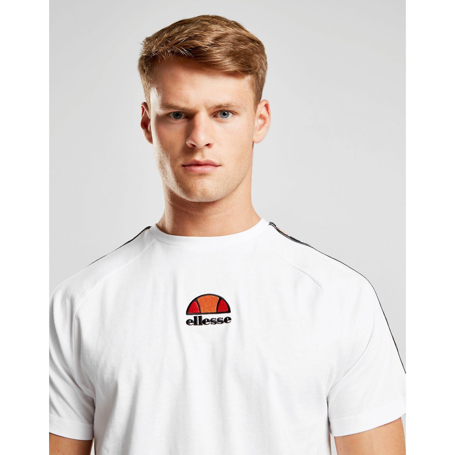1254950d Men's White Ferzio Tape T-shirt