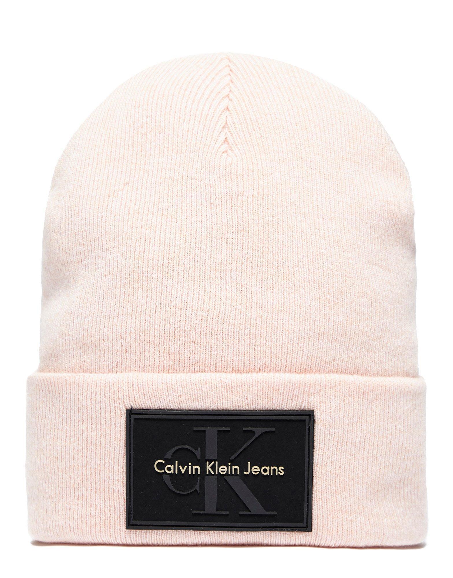 febc73119ae Calvin Klein Re-issue Beanie in Pink for Men - Lyst