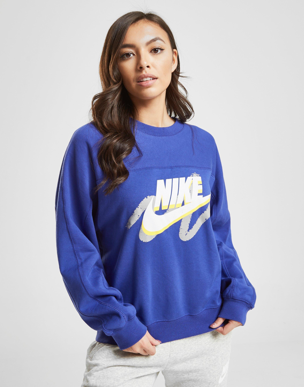 30c7222b8bbd Nike Archive Crew Sweatshirt in Blue - Lyst