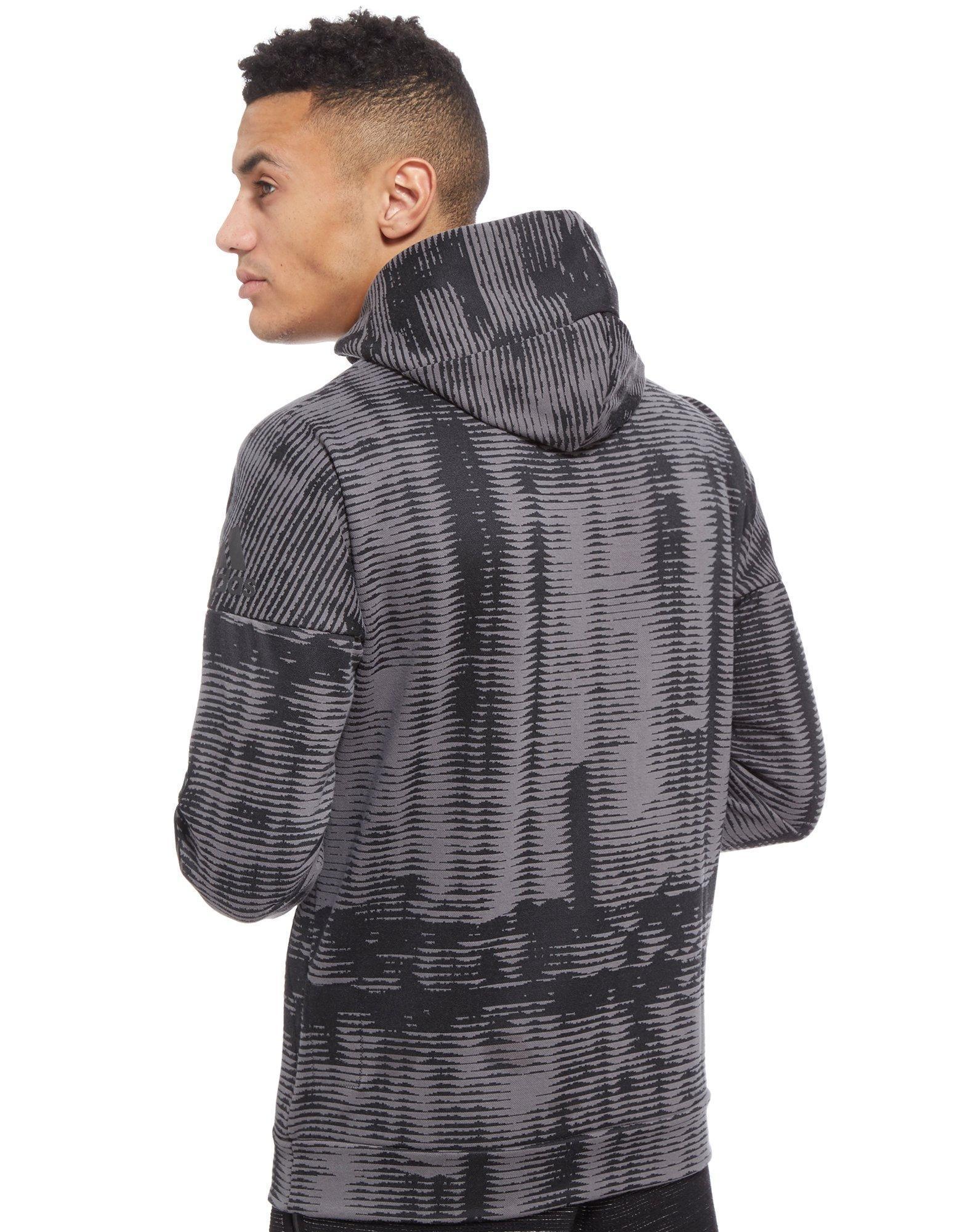 adidas Cotton Zne Pulse Hoodie in Black/Grey (Grey) for Men