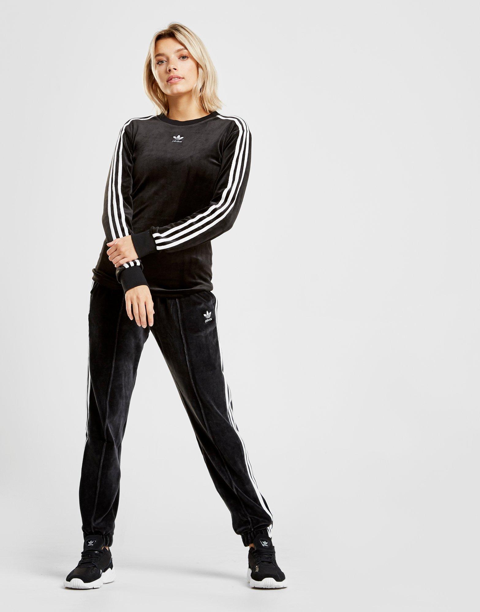 3-stripes Velvet Long Sleeve California T-shirt