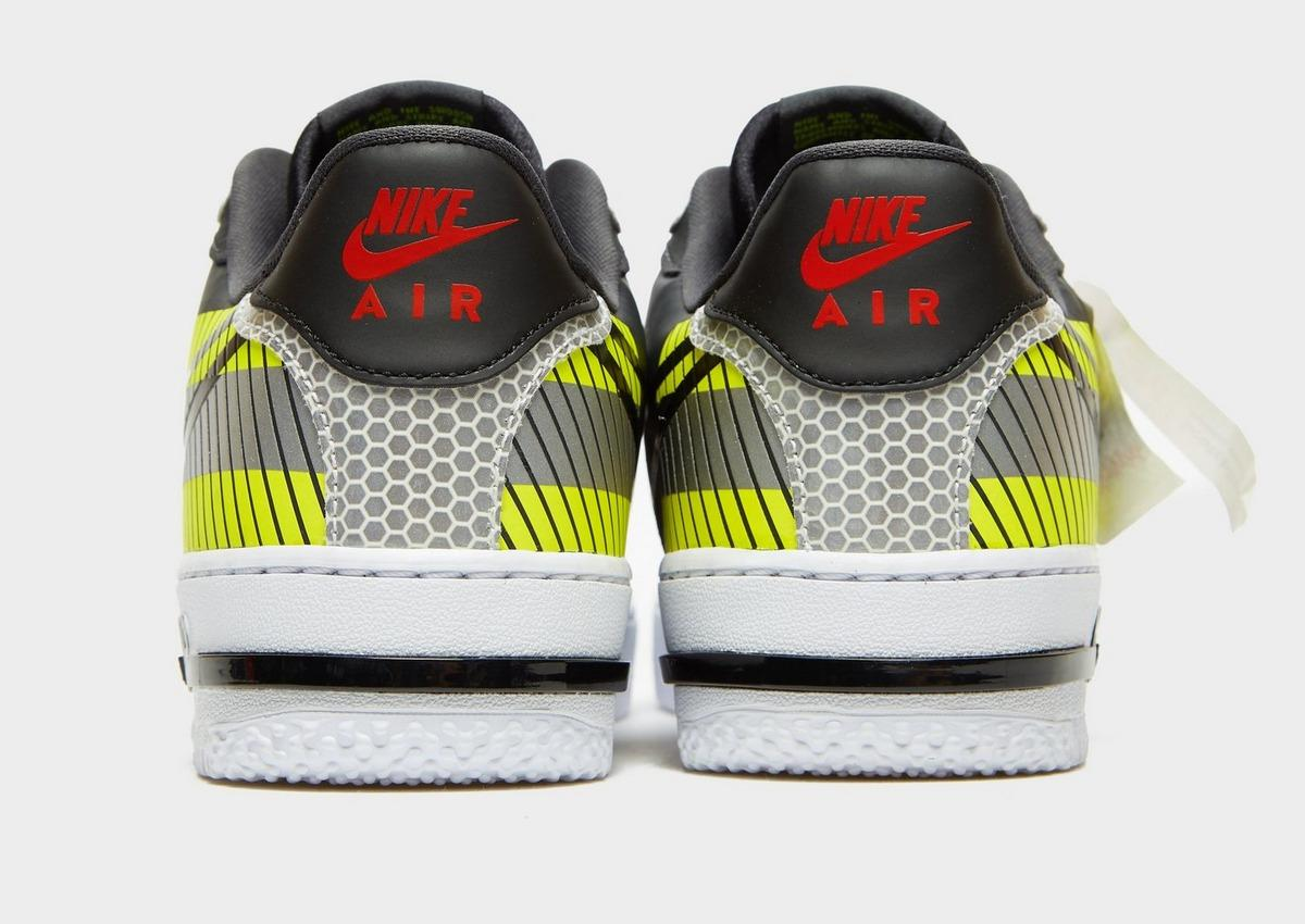 Nike Leather Air Force 1 React Lx in Grey/Yellow (Gray) for Men - Lyst