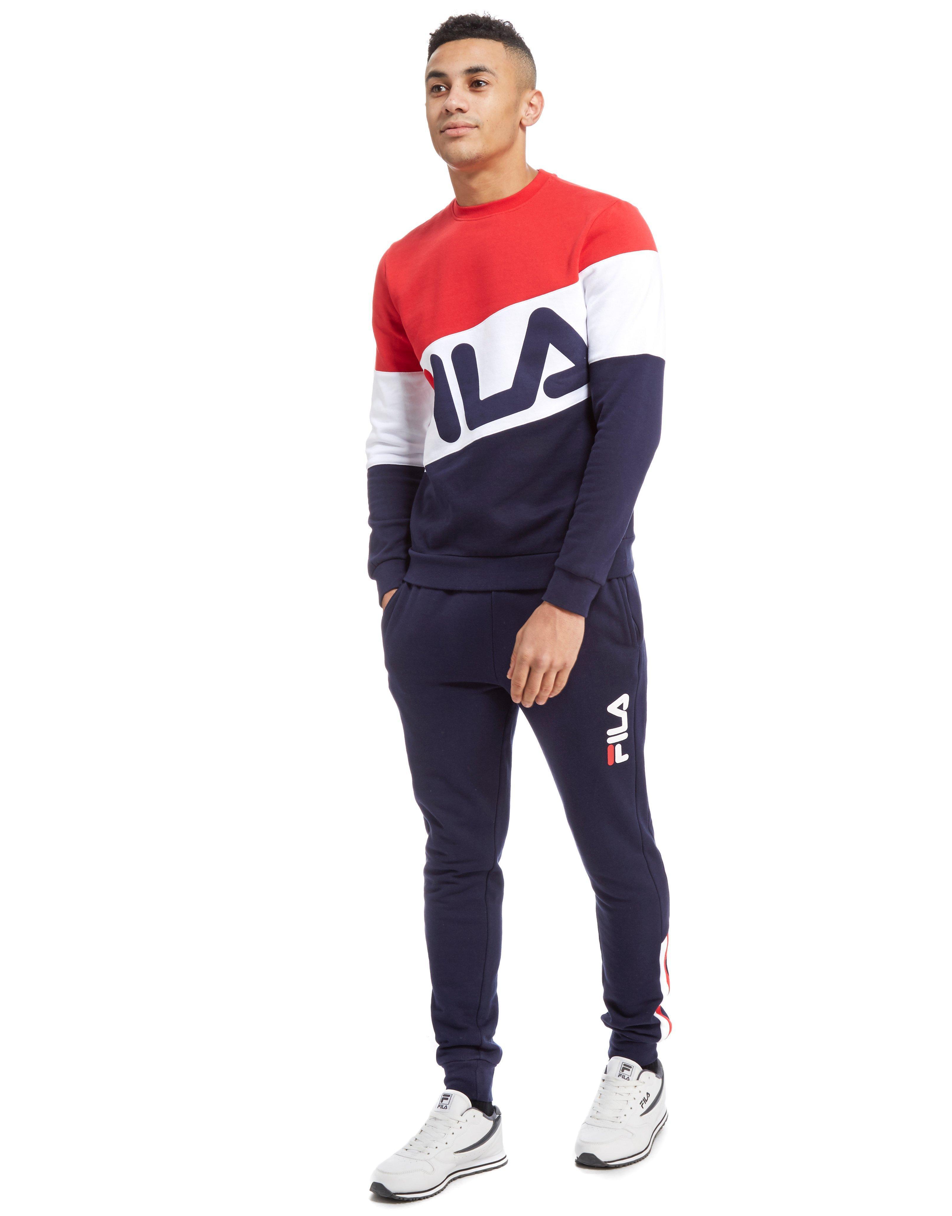 Fila Cotton Finchley Crew Sweatshirt for Men Lyst