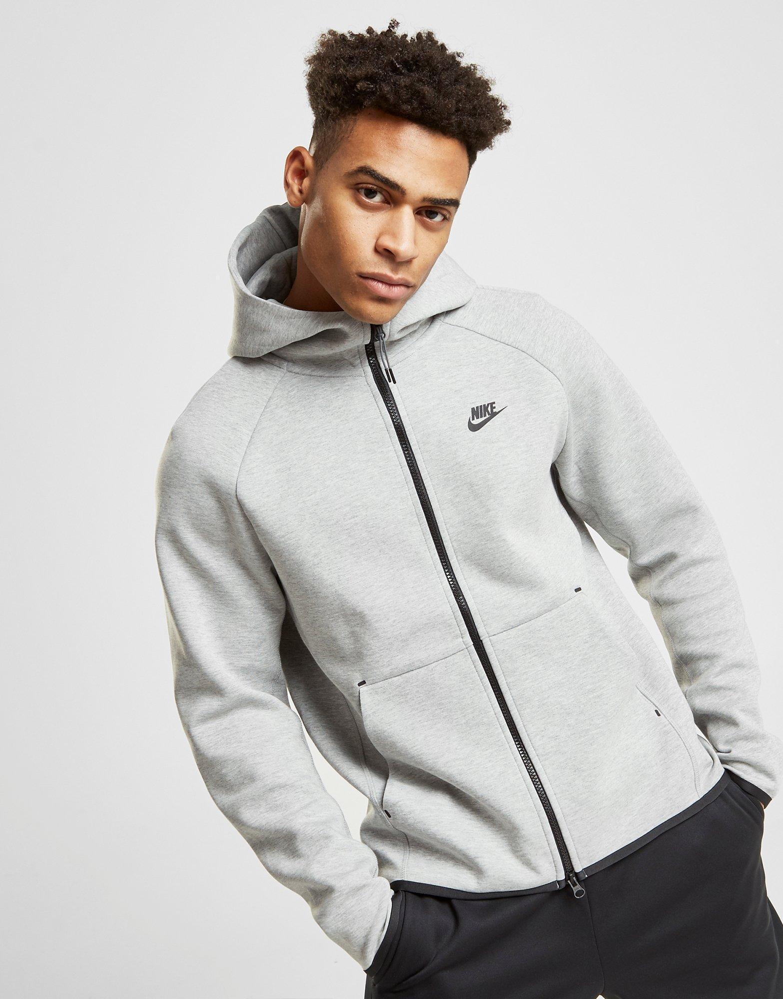 1a37e312131233 Lyst - Nike Tech Full Zip Hoodie in Gray for Men