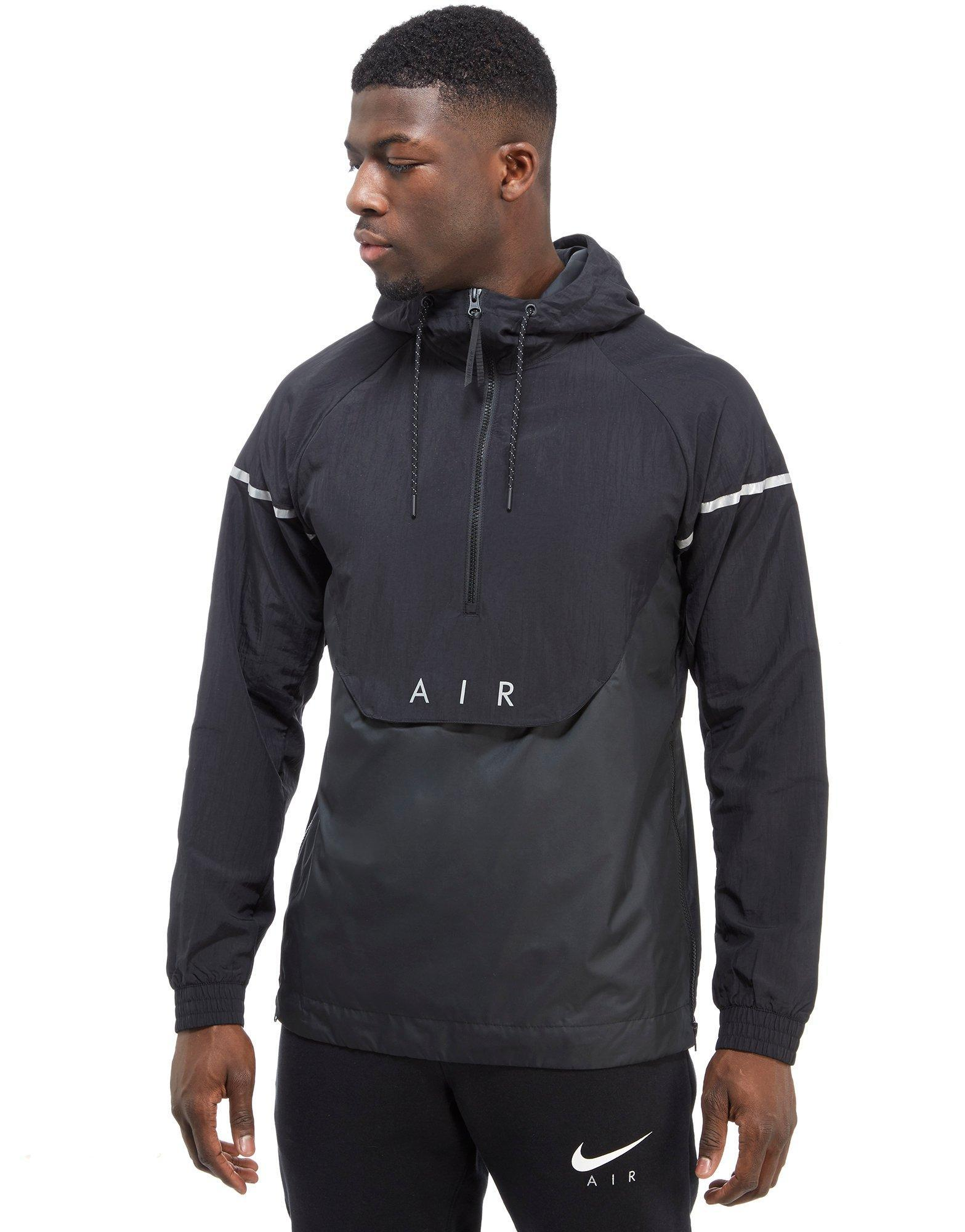 masculino Isaac muerte  Nike Synthetic Air Hybrid 1/2 Zip Woven Jacket in Black for Men - Lyst