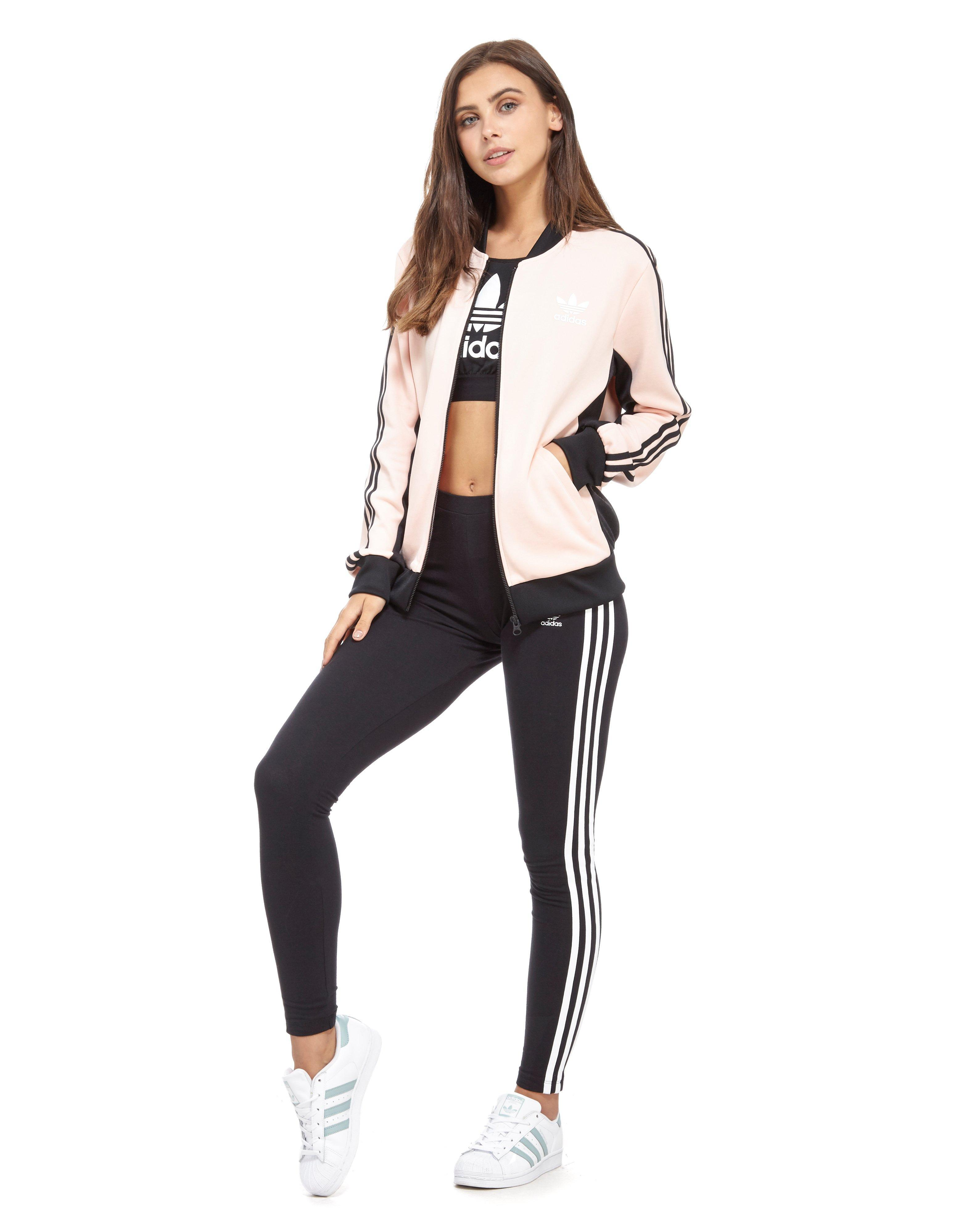 eecbe56e75a9 adidas Originals Supergirl Track Top in Pink - Lyst