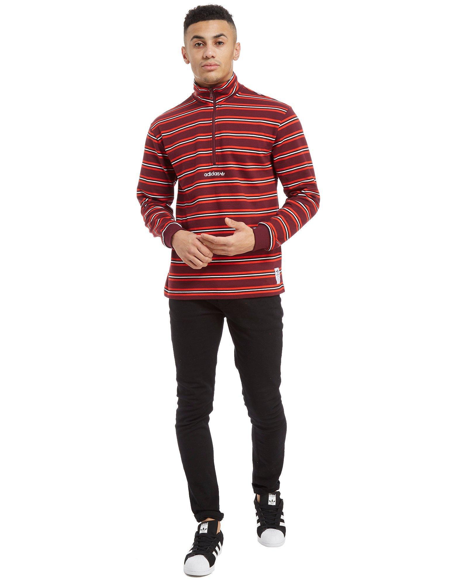 Men's Red St Peter 12 Zip Sweatshirt