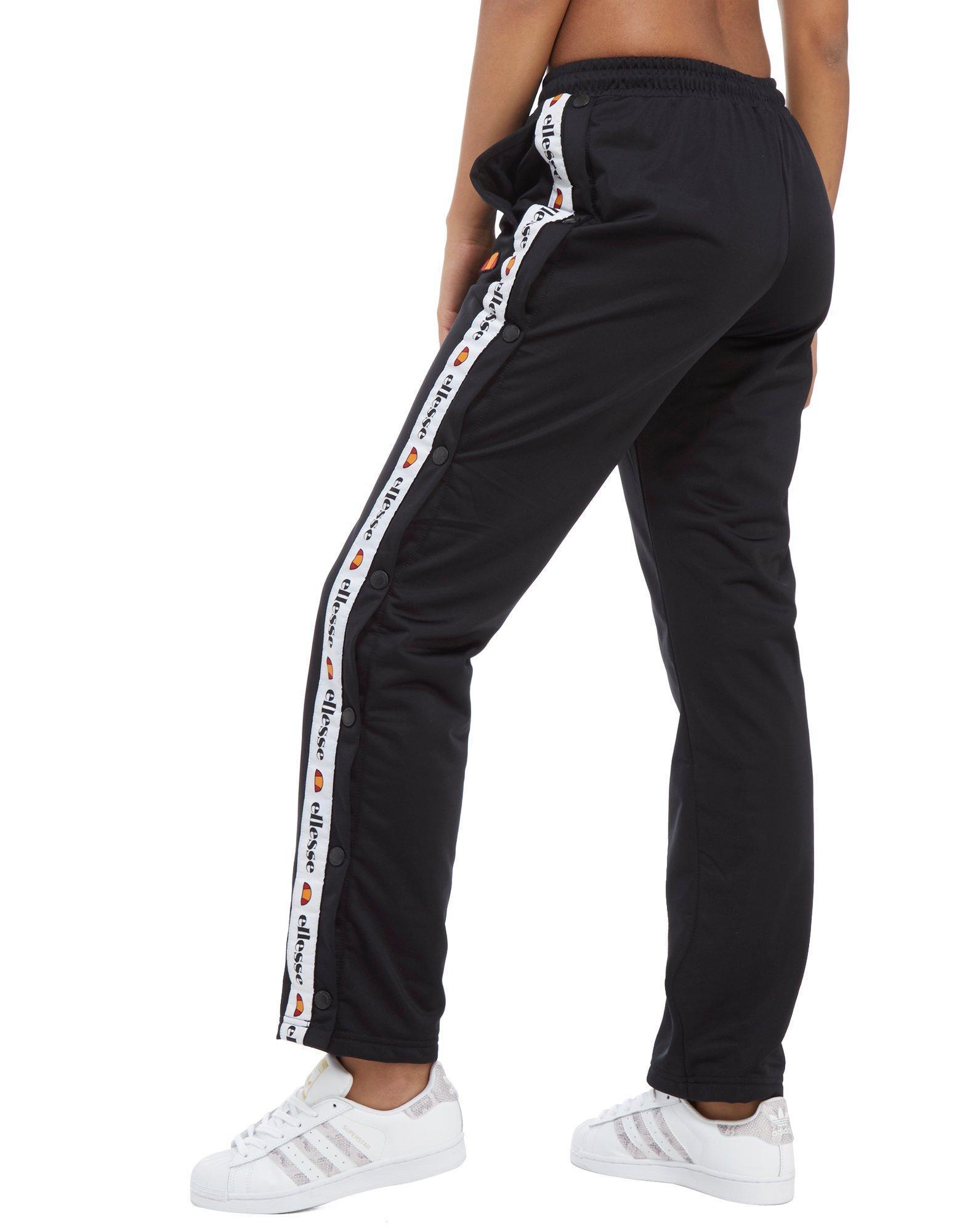 Ellesse Synthetic Tape Popper Pants In Black Lyst
