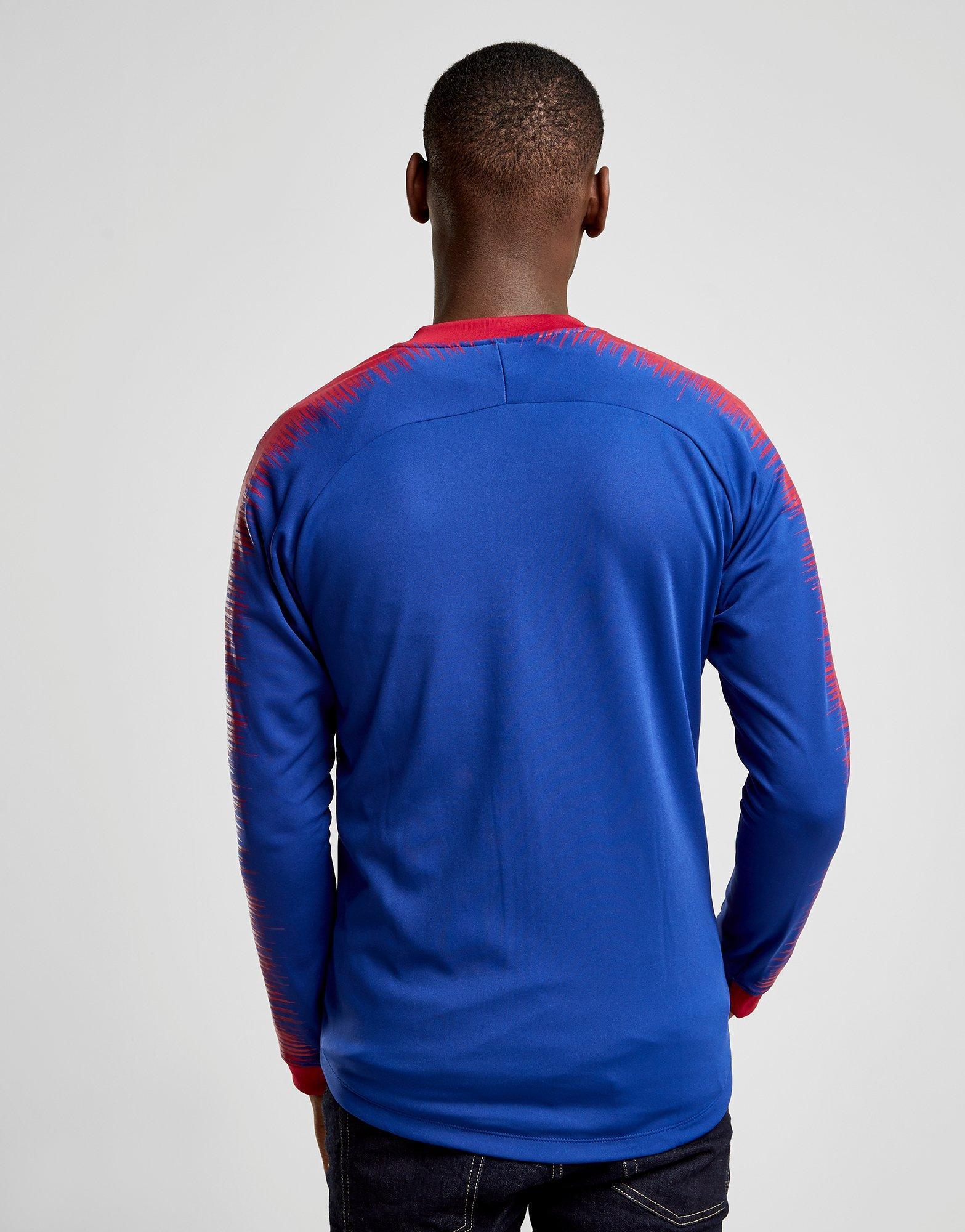 Lyst - Nike Fc Barcelona Anthem Jacket in Blue for Men 4f9129458