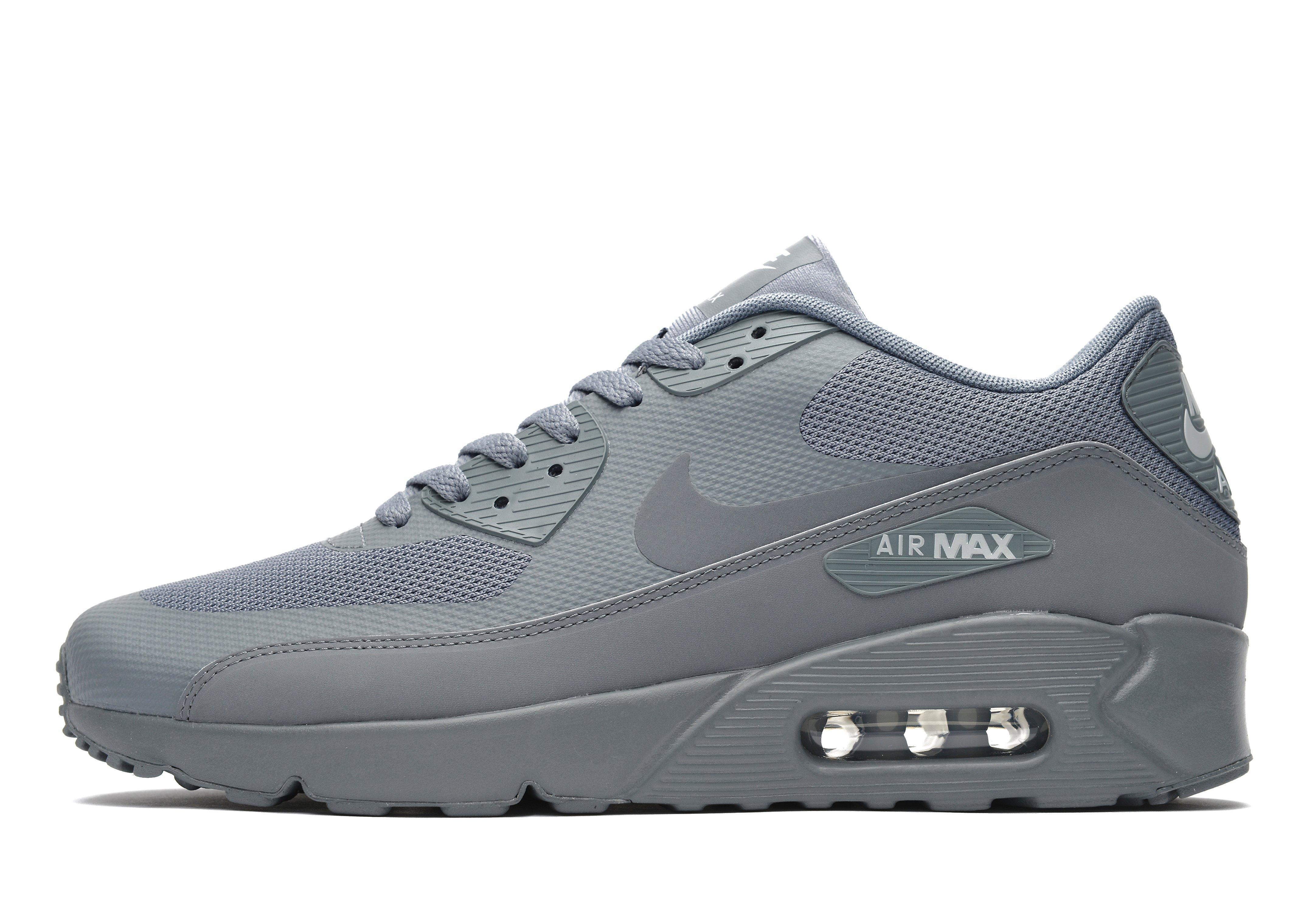 Nike Leather Air Max 90 Ultra Essential 2.0 in Grey (Gray) for Men ...