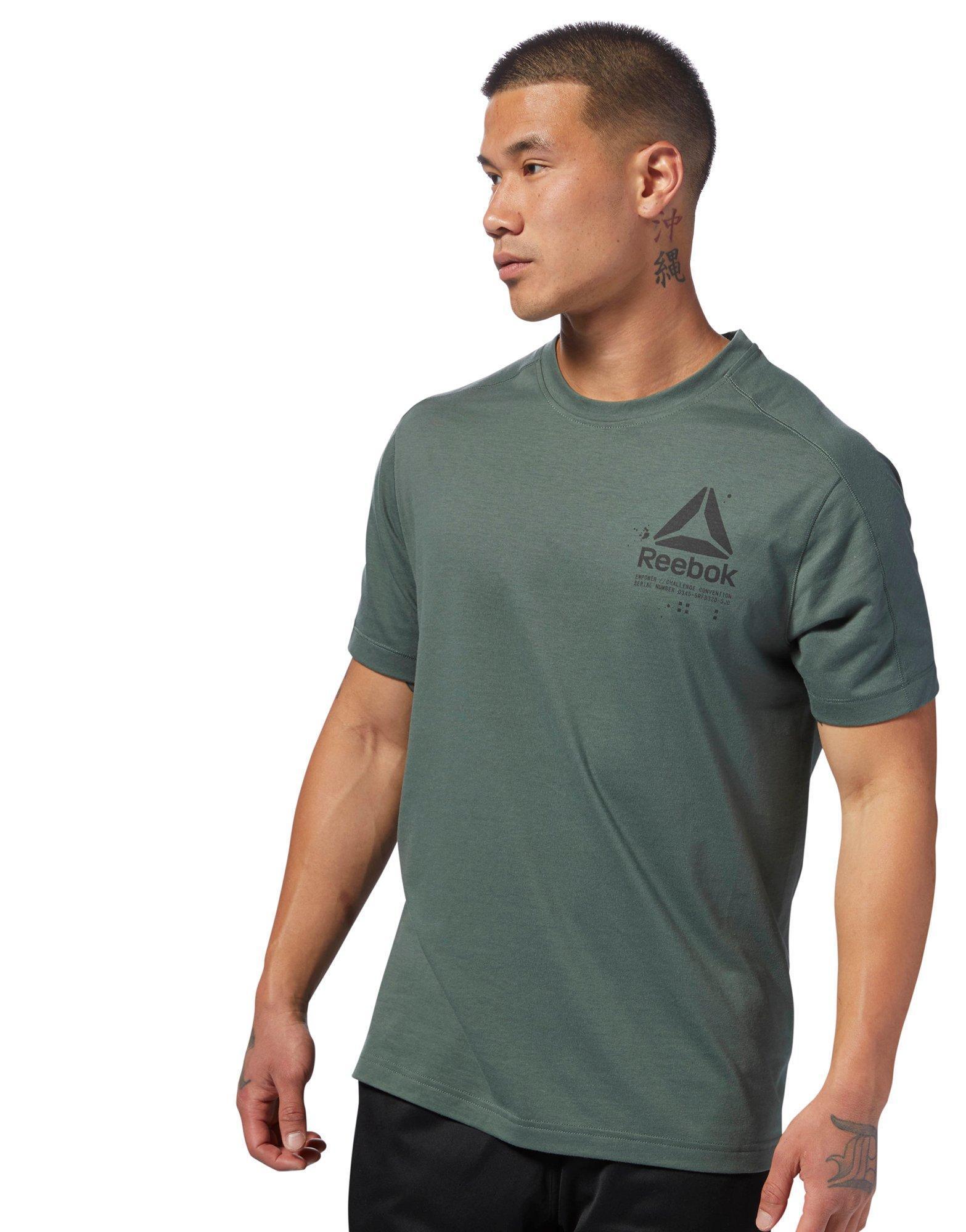 dd7987ef Lyst - Reebok Speedwick Graphic Tee in Green for Men