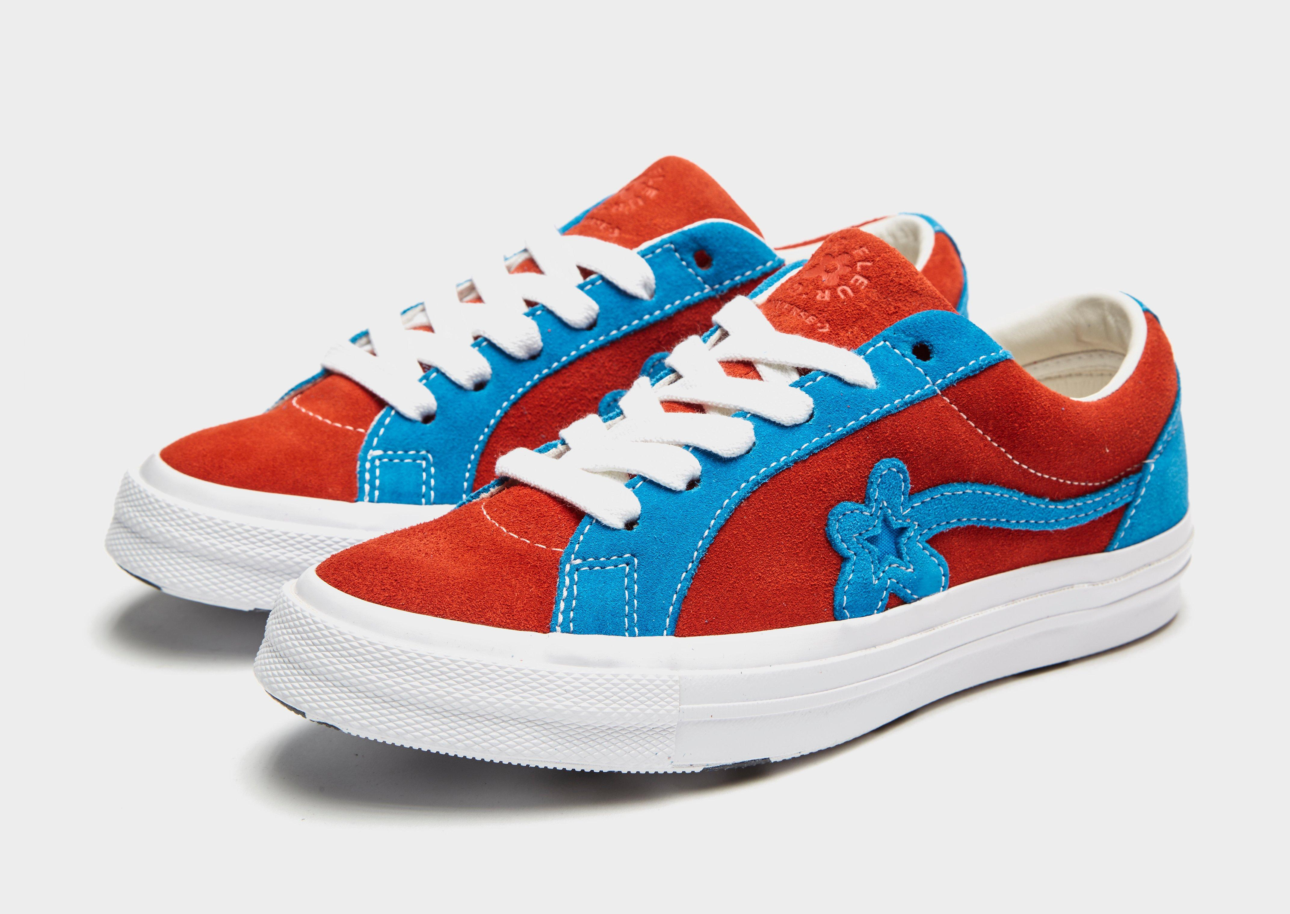 Converse Suede X Tyler Golf Le Fleur One Star In Red Blue Blue Lyst