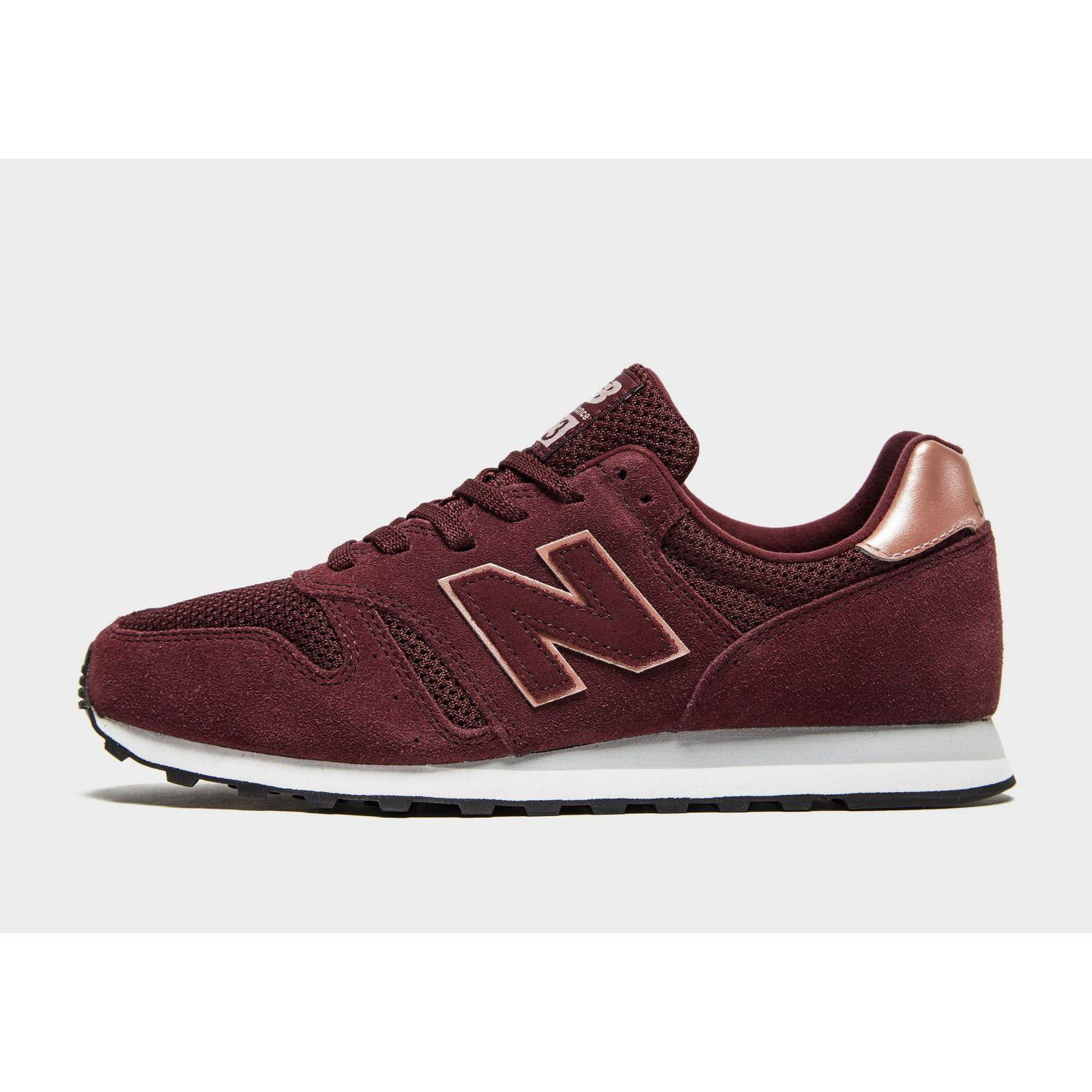 Marco Polo Inconveniencia Producción  New Balance Suede 373 in Burgundy/Rose Gold (Red) - Lyst