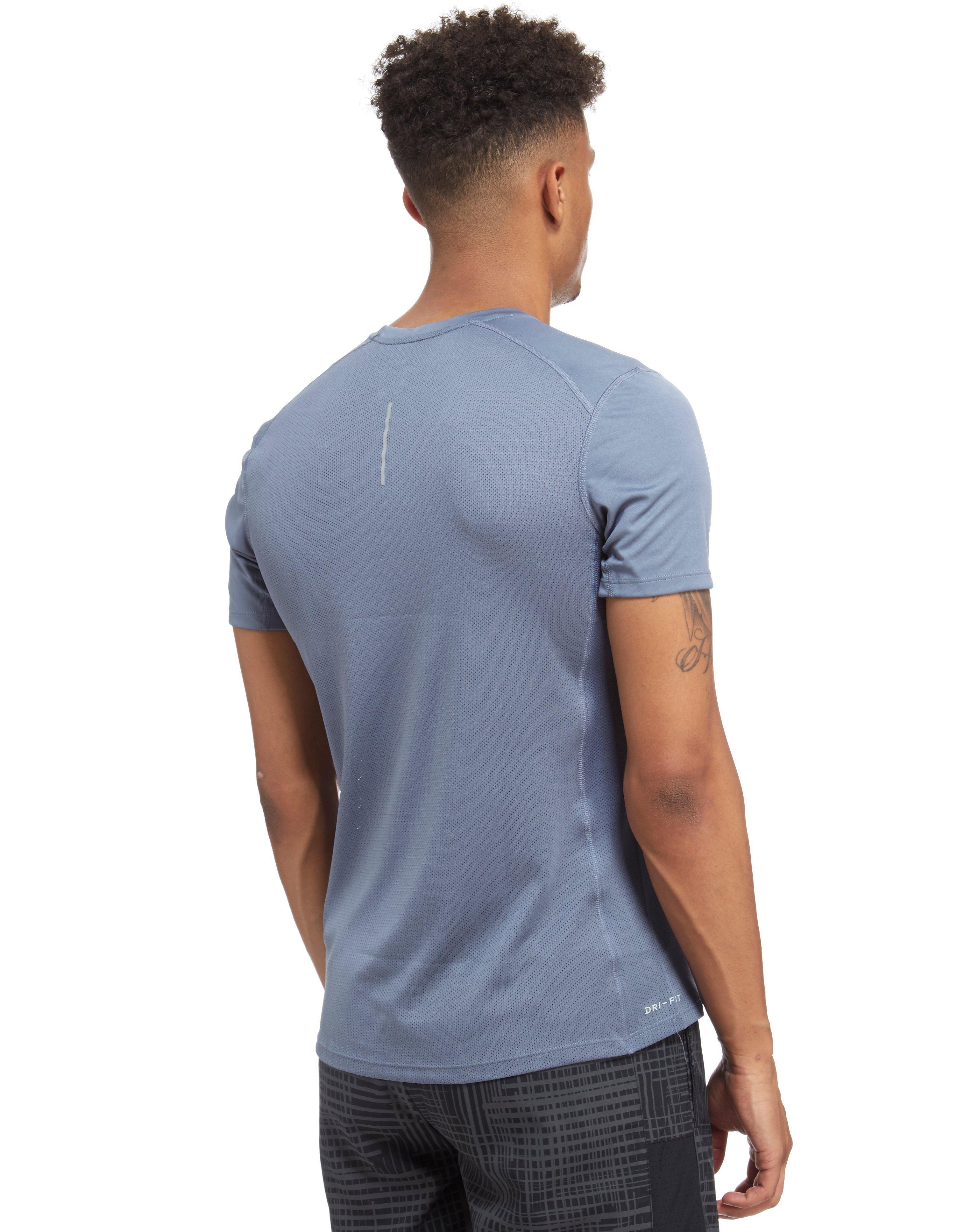 Lyst Nike Dry Miler T Shirt In Gray For Men
