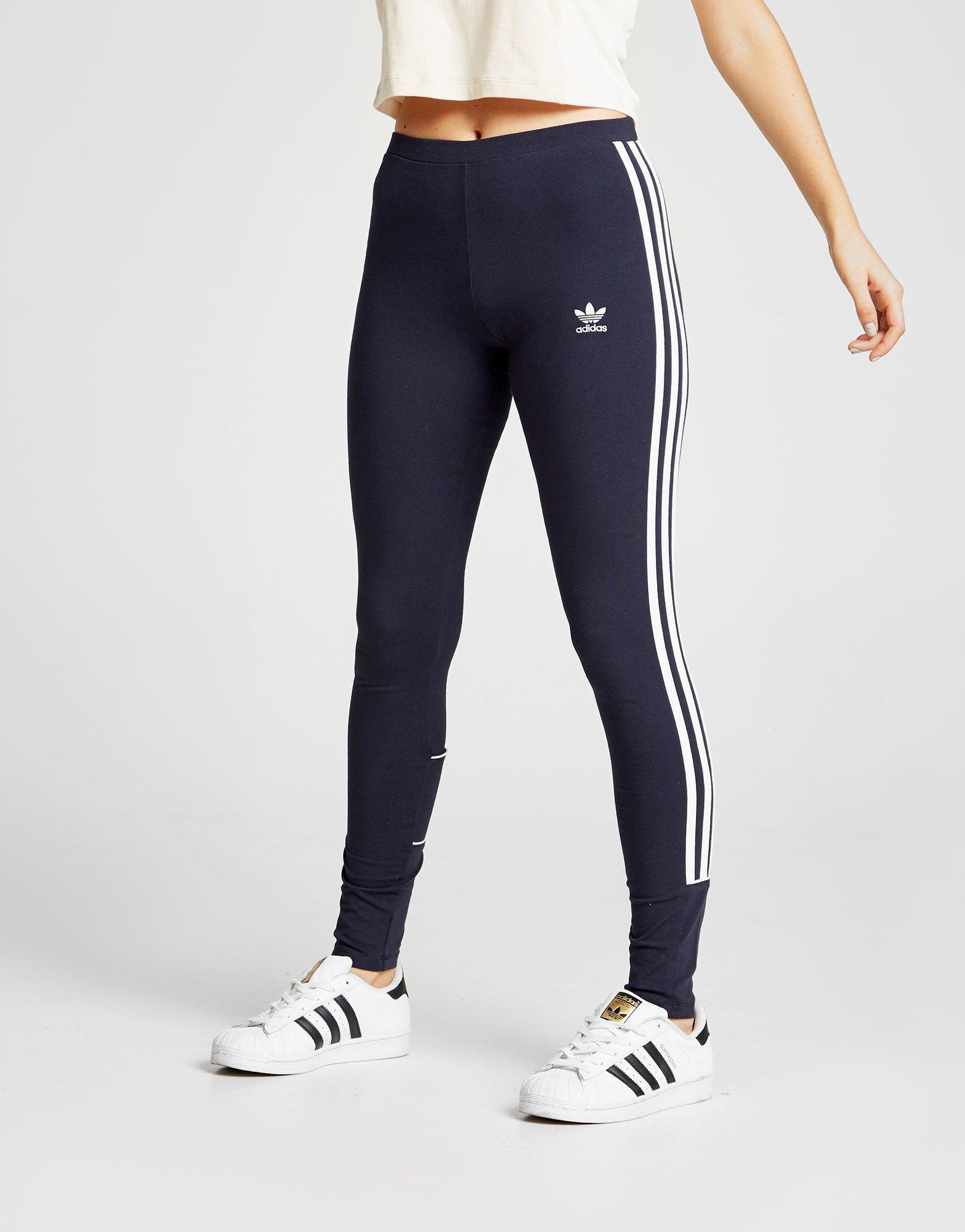 adidas 3 stripes piping leggings