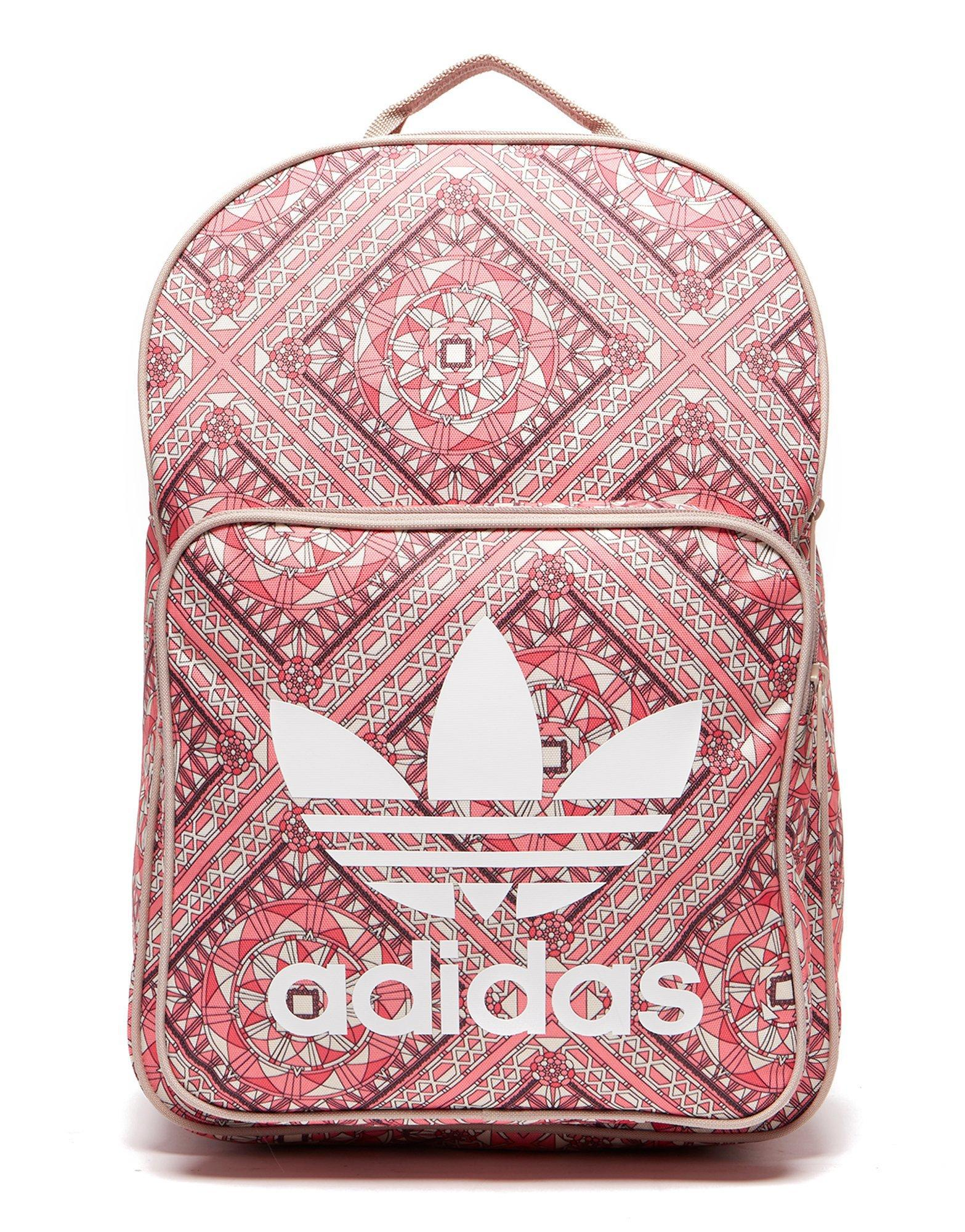 f3ed0ab0bd91 adidas Originals Classic Print Backpack in Pink - Lyst
